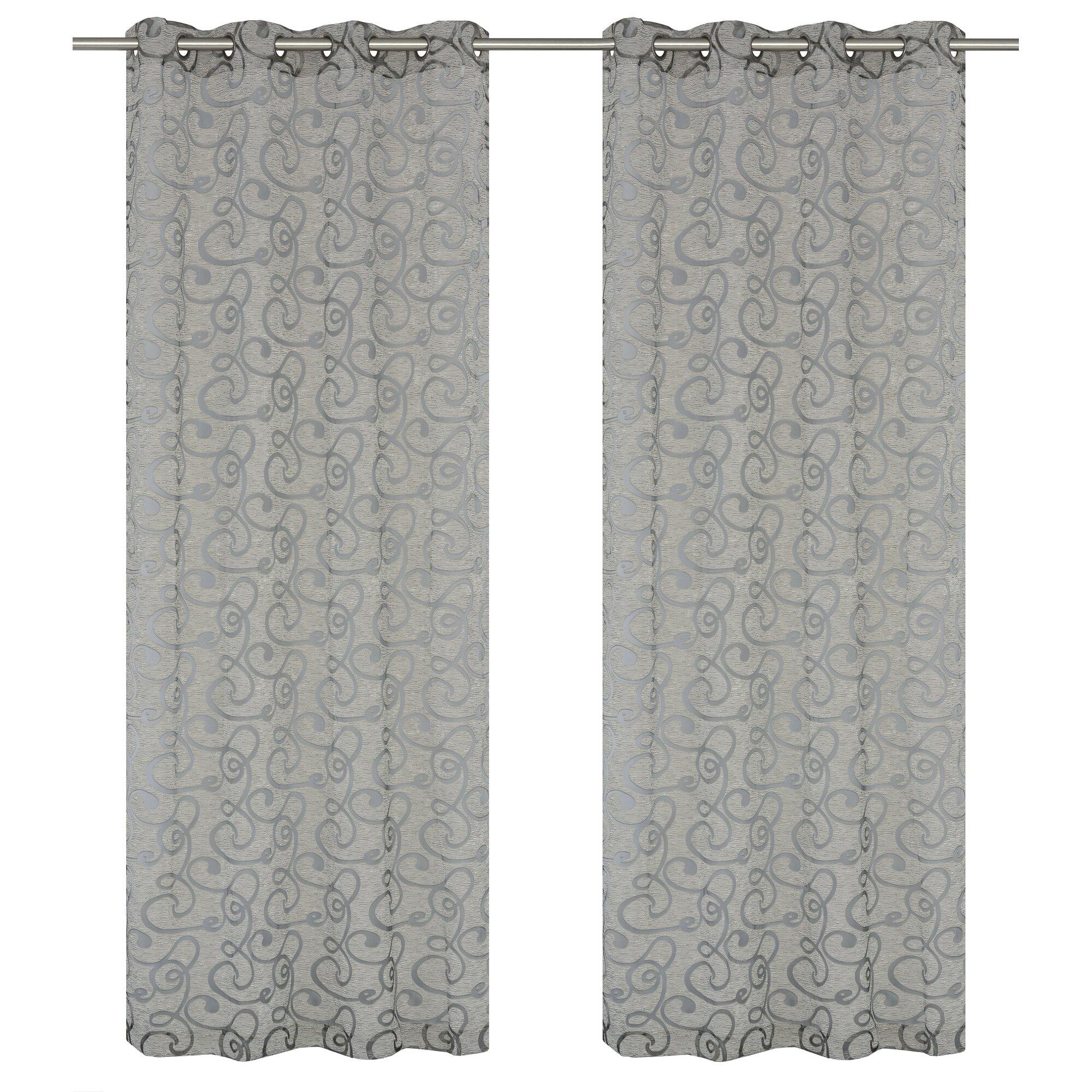 mystic burnout geometric semisheer grommet curtain panels louisville decorative outdoor lighting adds mystique n