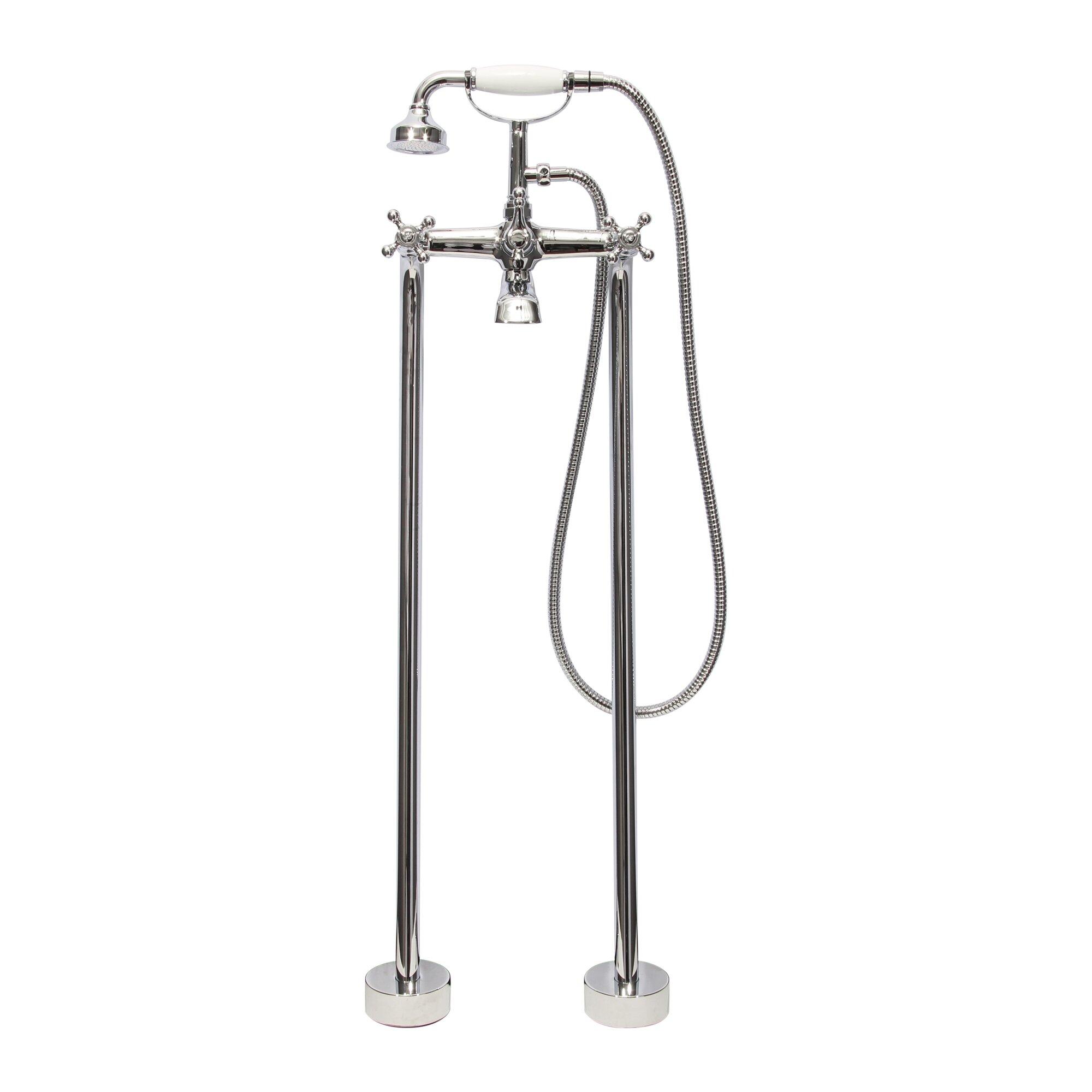 dyconn faucet double handle floor mount tub filler faucet with