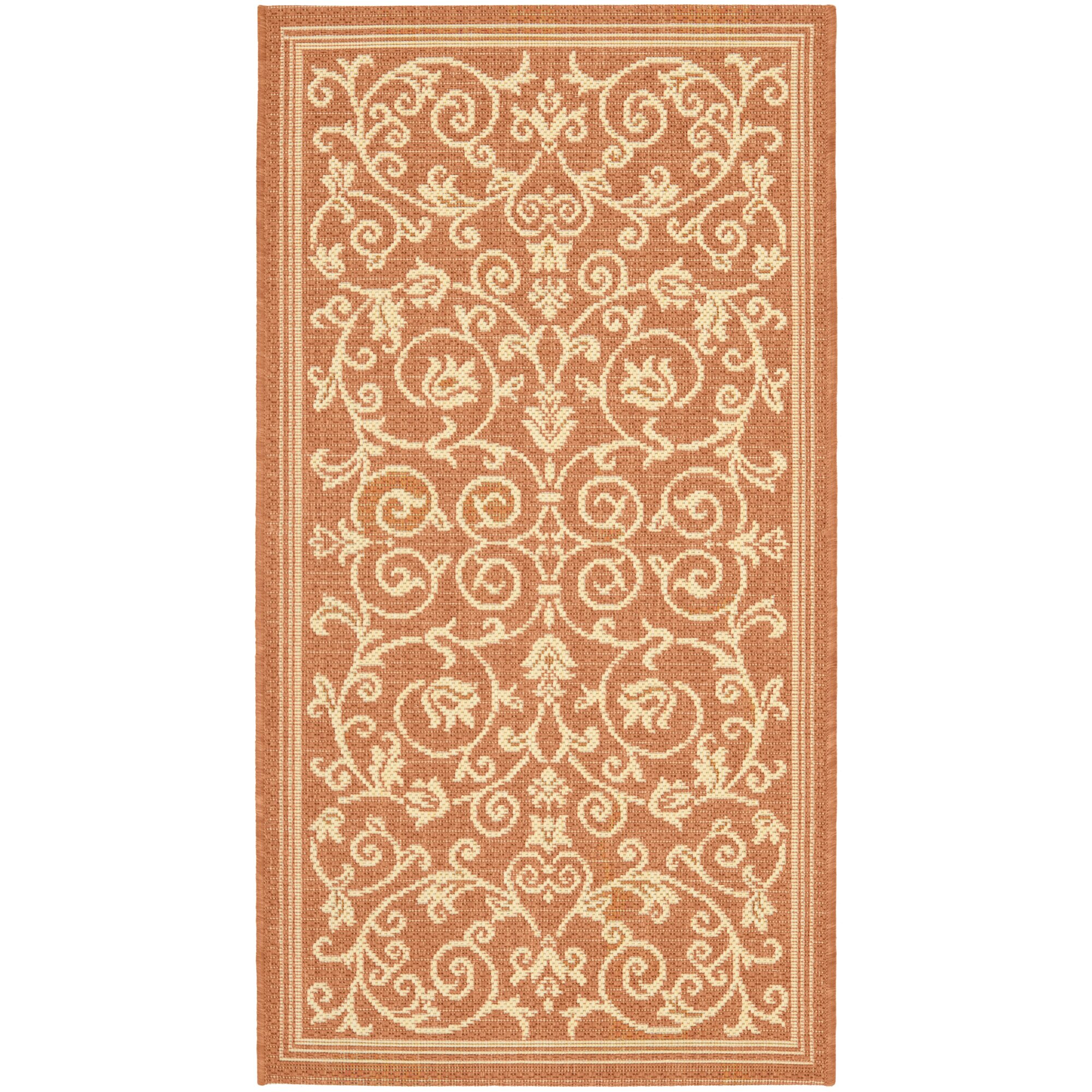 Bexton Persian Terracotta Natural Indoor Outdoor Area Rug