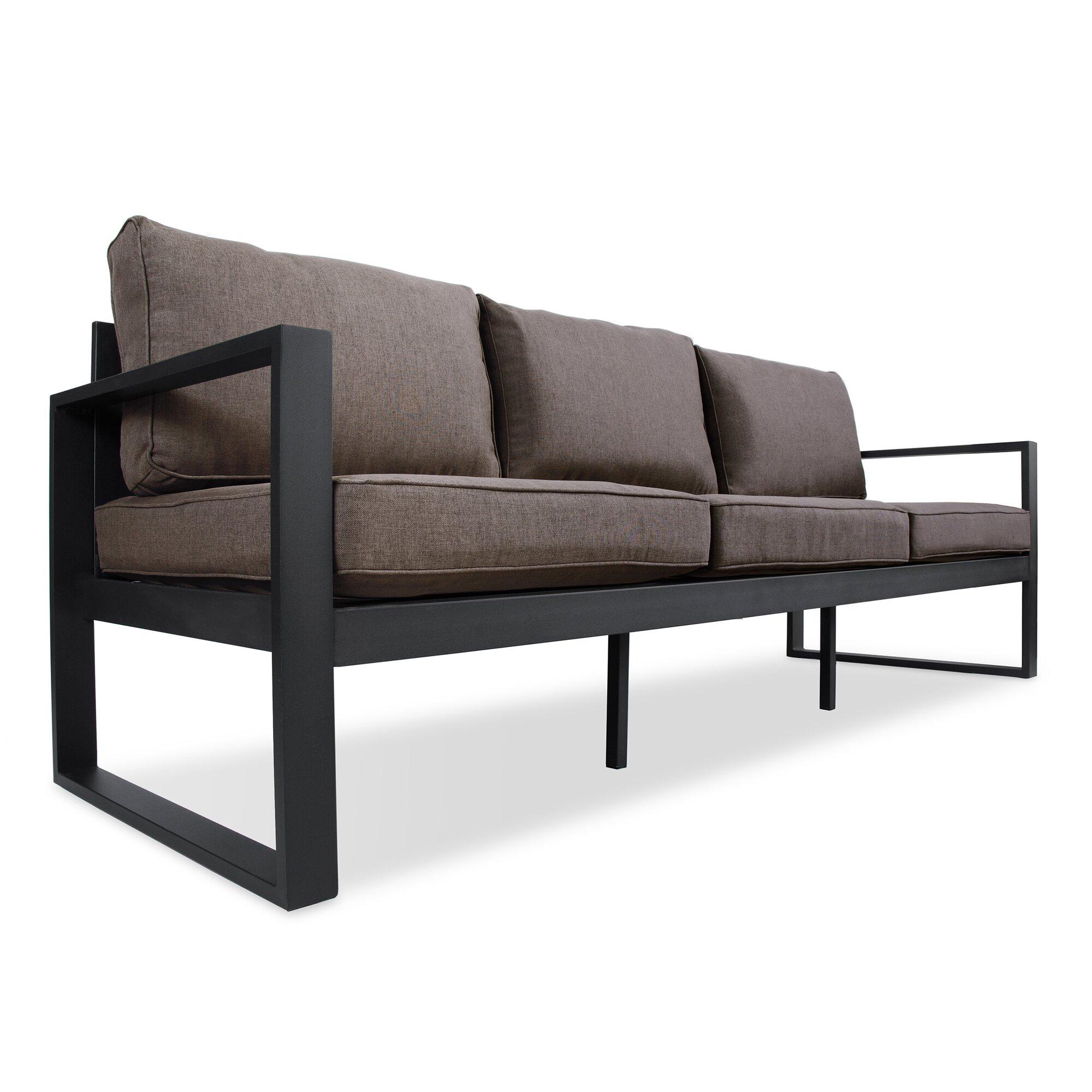 Real flame baltic sofa with cushion reviews wayfair for Sofa actual