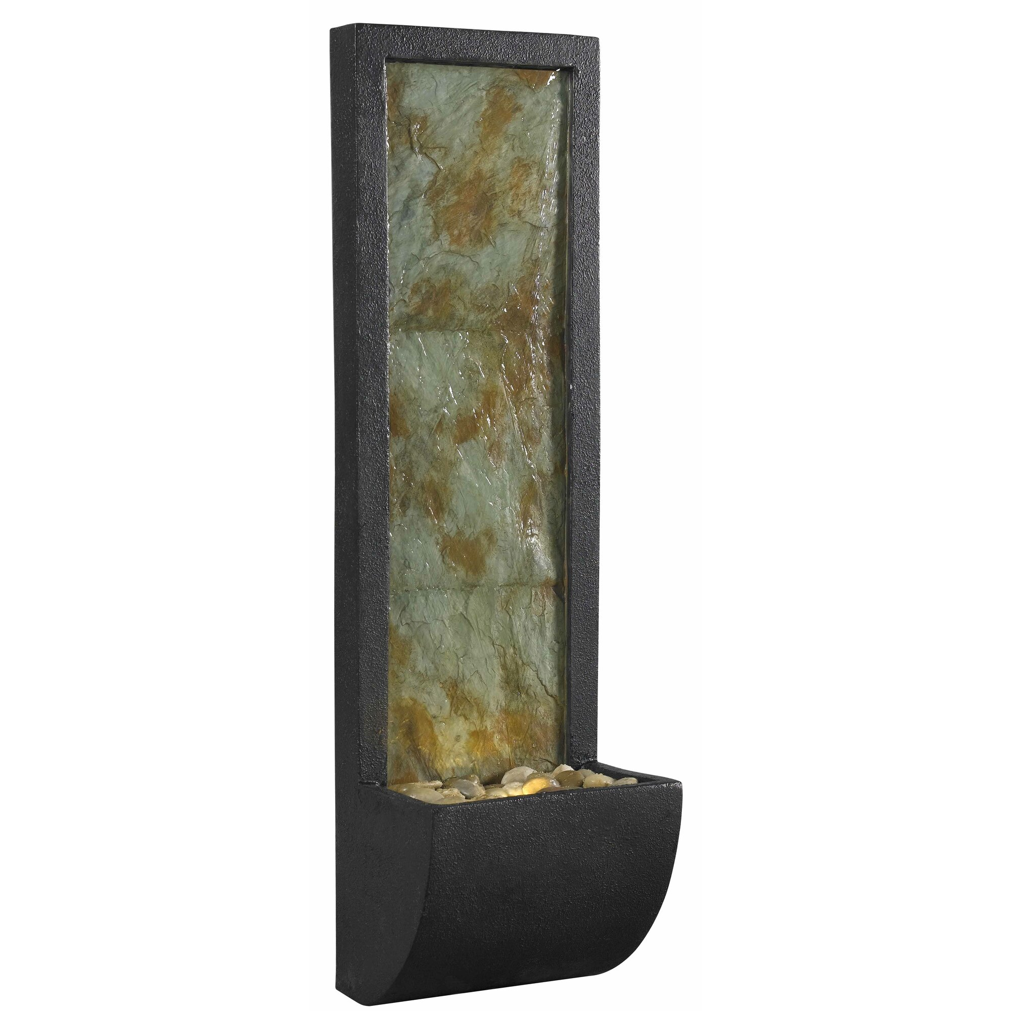 natural stone wall indoor wall fountain with light - Slate Wall Fountains Indoor