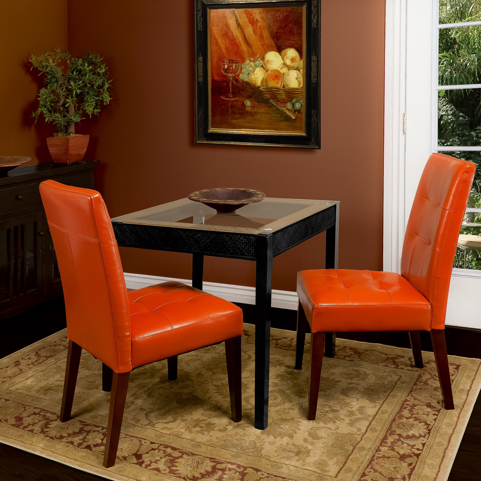 Tufted leather dining chairs - Talib Tufted Leather Dining Chair