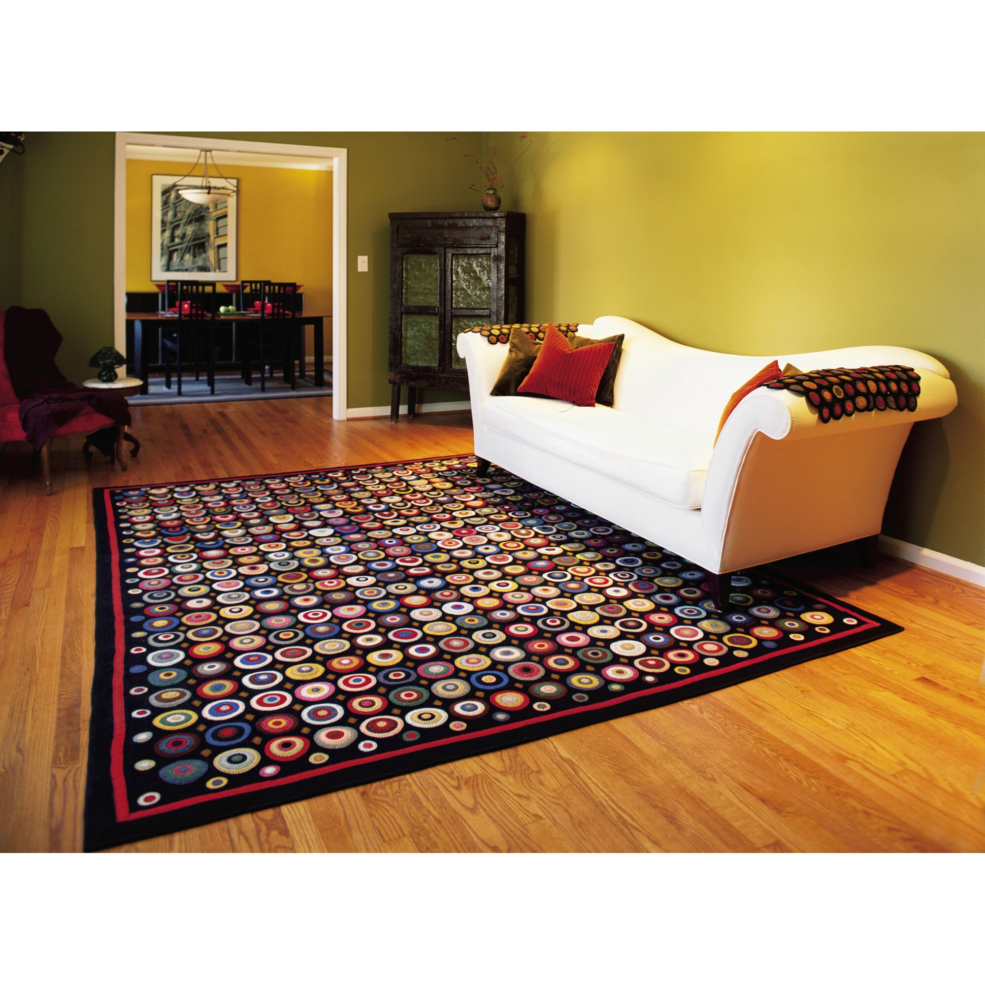 penny coin black area rug - Homespice Decor