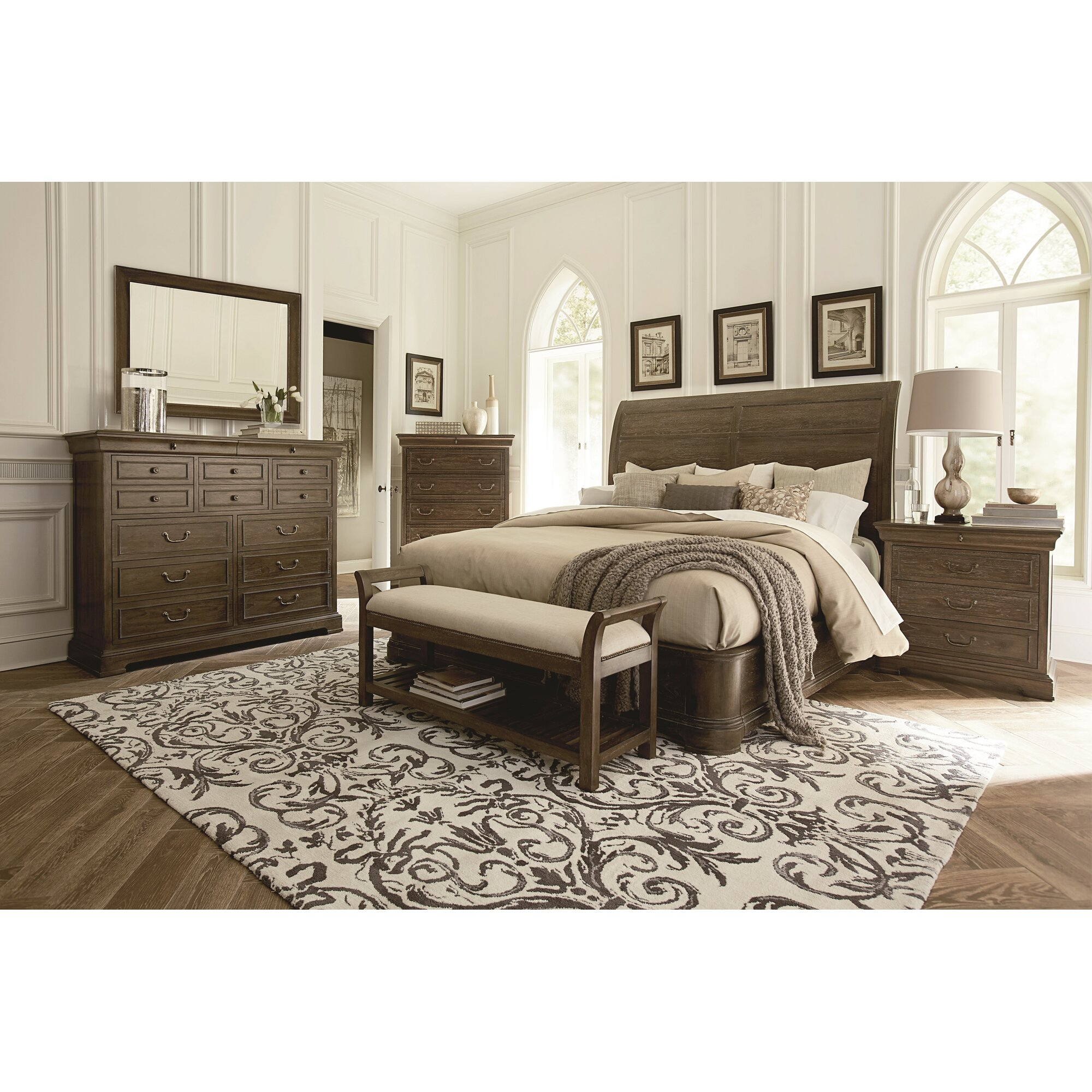 St Germain Platform Customizable Bedroom Set