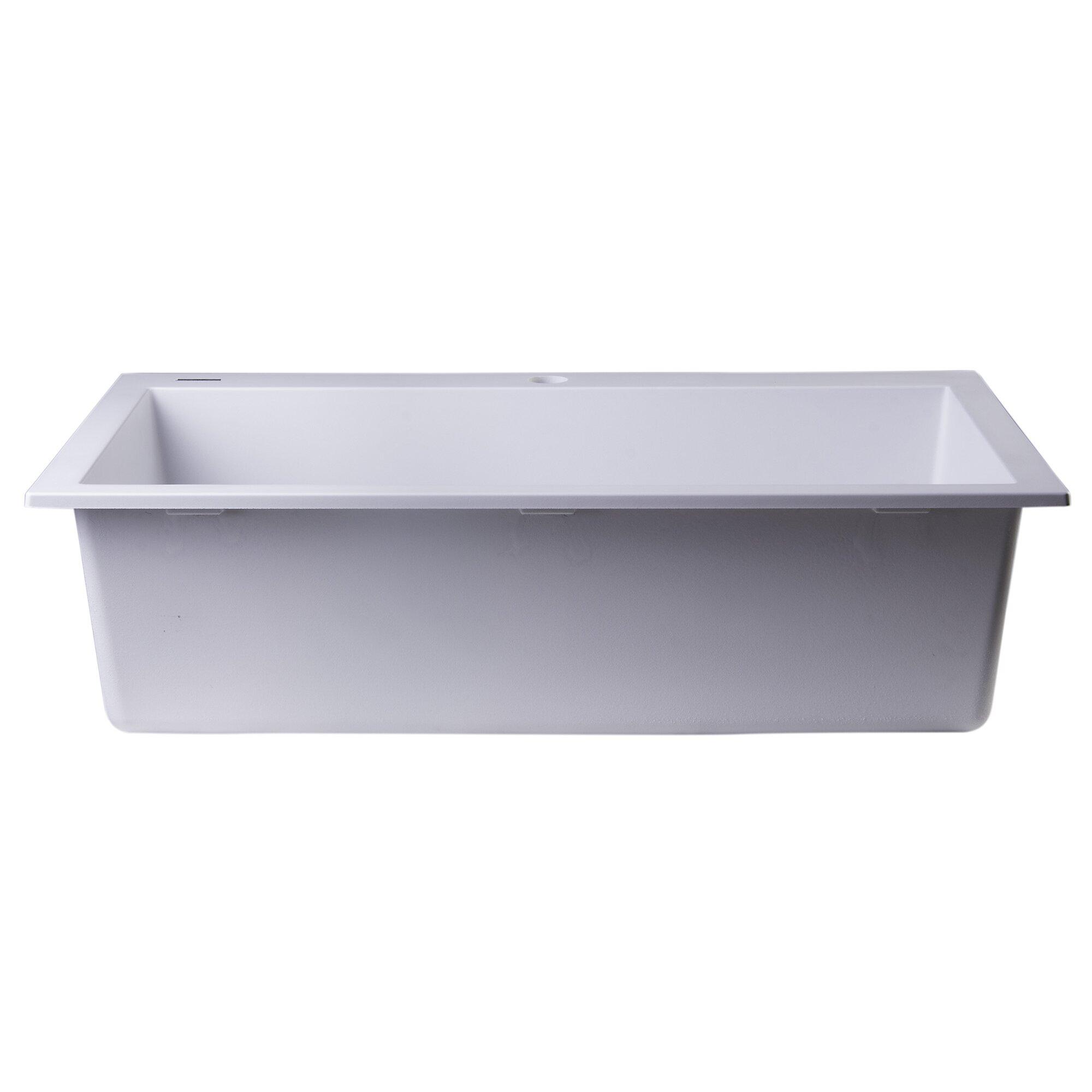 gray kitchen sink 30 x 20 drop in single bowl kitchen sink