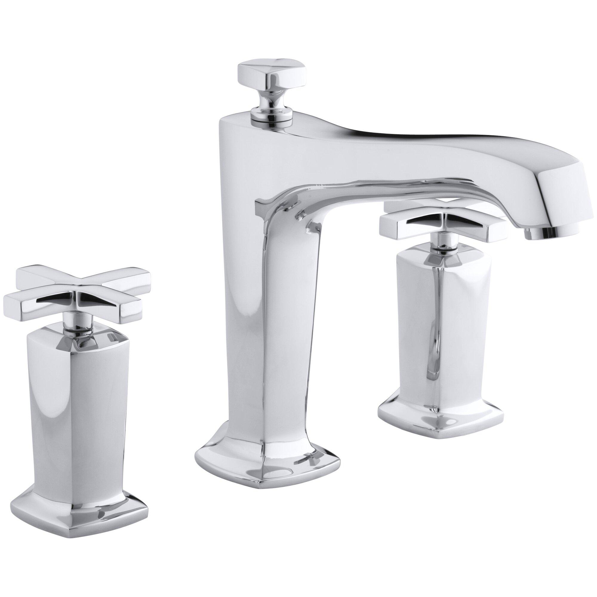 Cross Handle Bathroom Faucet Kohler Margaux Deck Mount Bath Faucet Trim For High Flow Valve