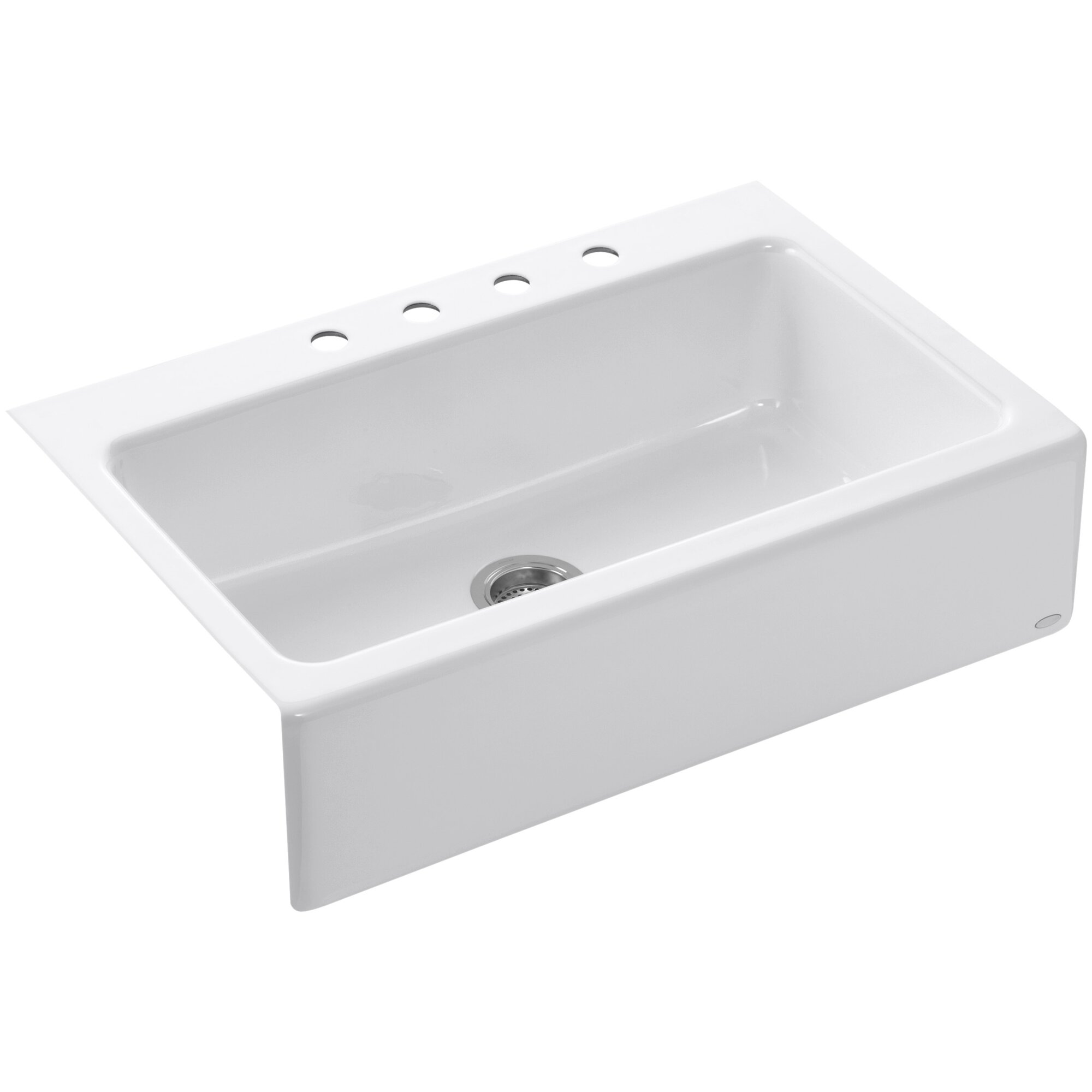 dickinson 33 x 22 18 x 8 34 - White Single Basin Kitchen Sink
