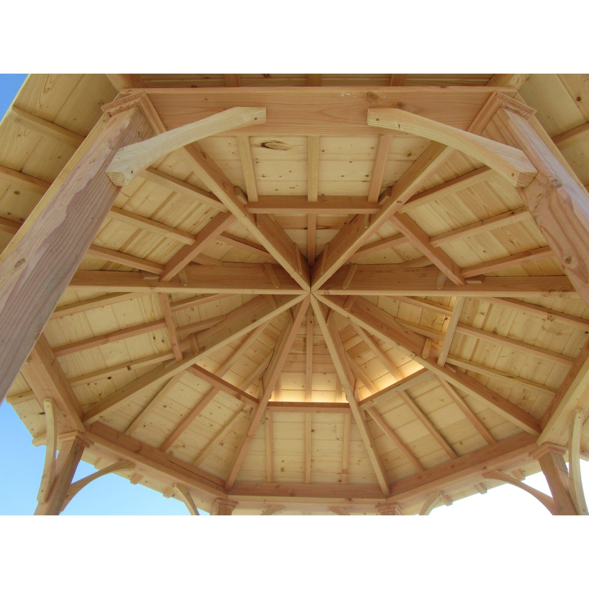 Samsgazebos 10 Ft W X 10 Ft D Wood Permanent Gazebo