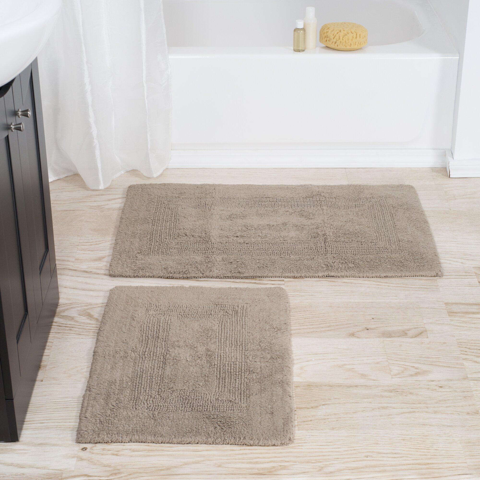 Bathroom 3 piece rug set - 2 Piece Reversible Bath Rug Set