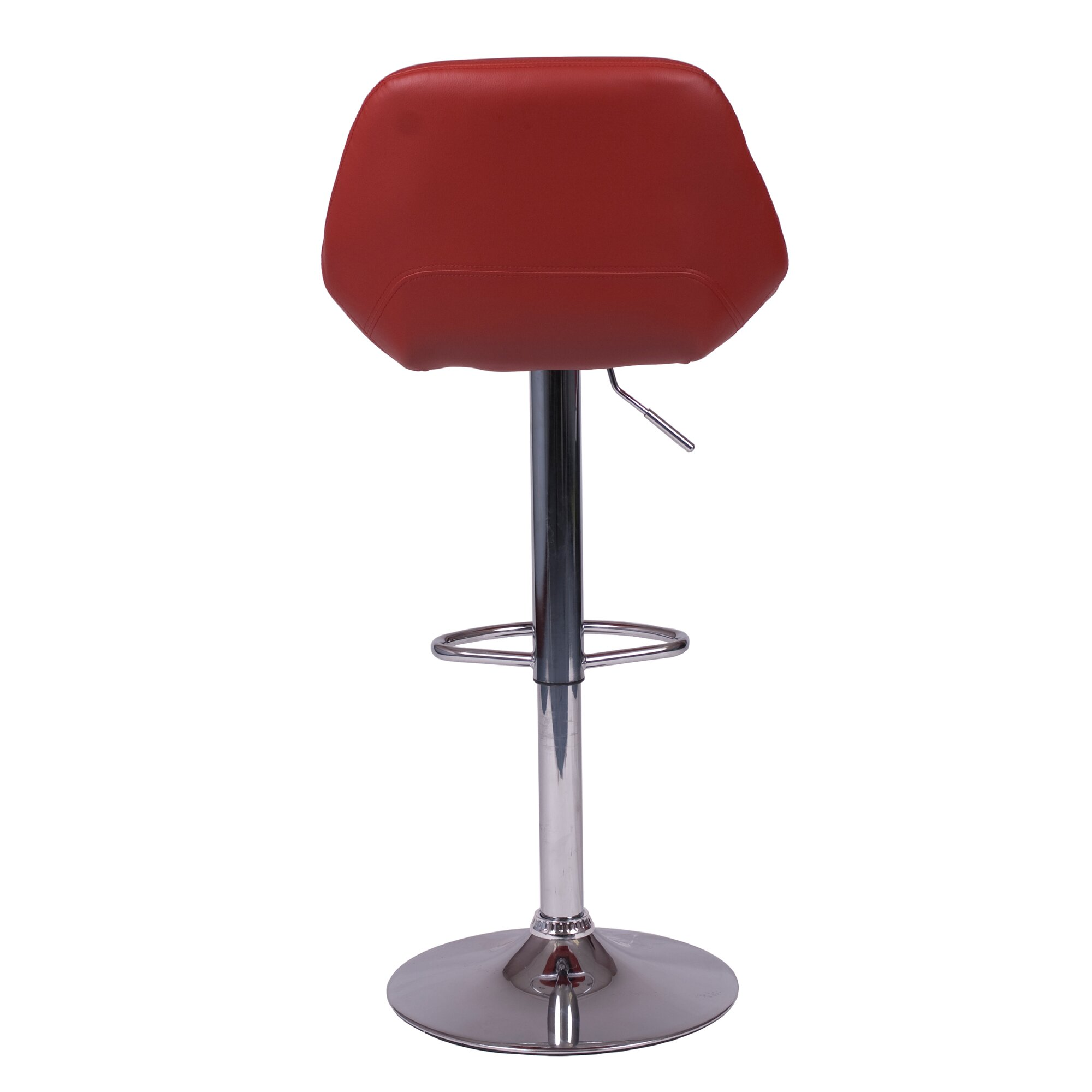 Roundhill Furniture Adjustable Height Swivel Bar Stool