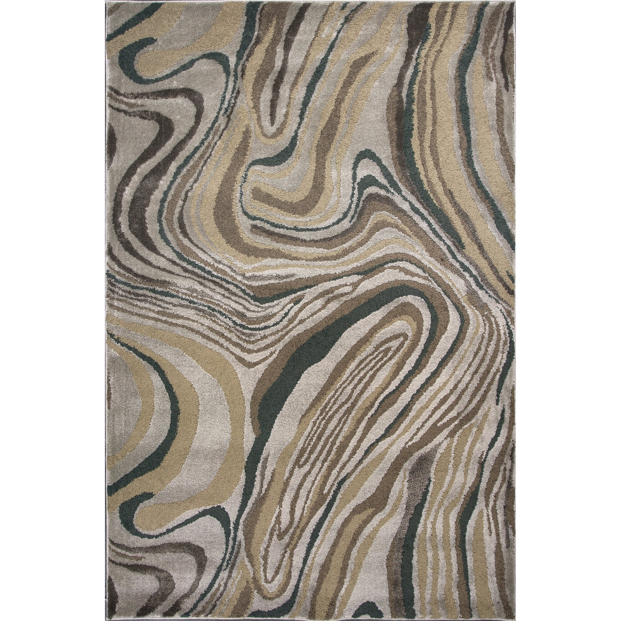 Timeless Silver Wood Grains Area Rug