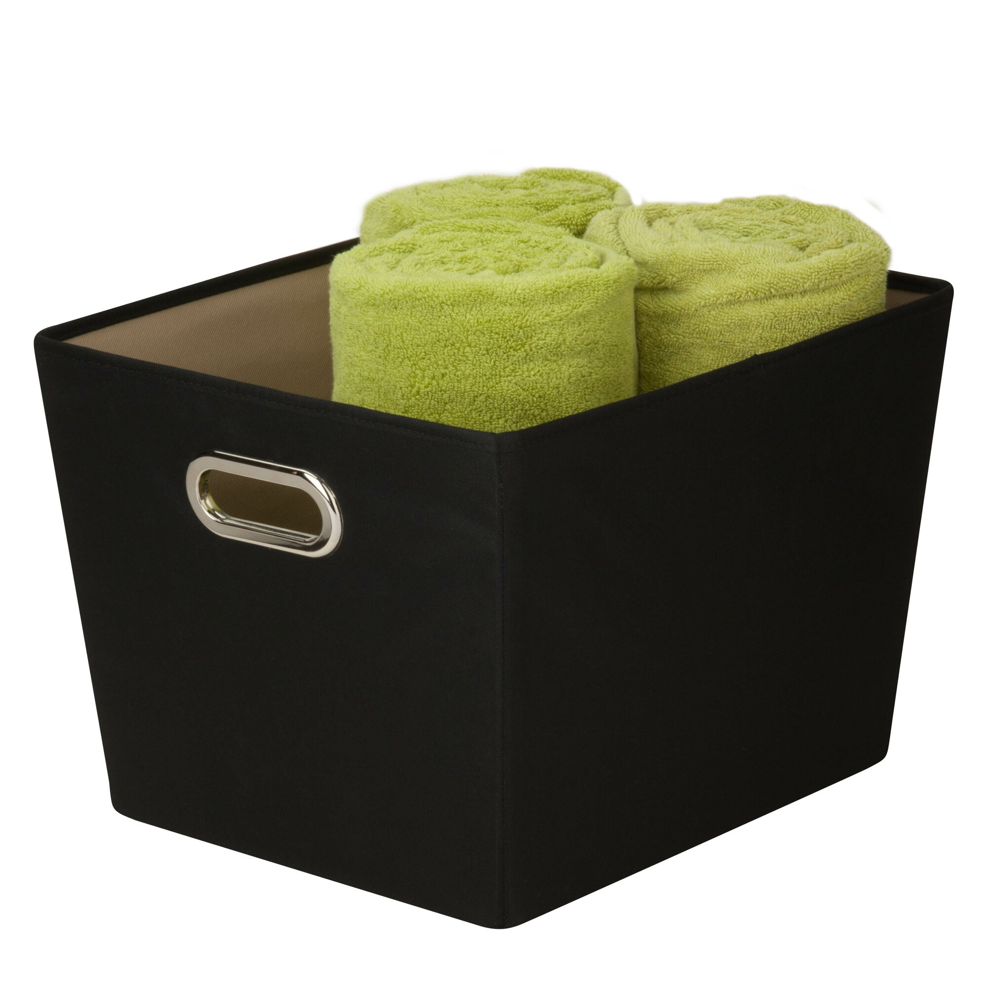 decorative storage bin with handle - Decorative Storage Bins