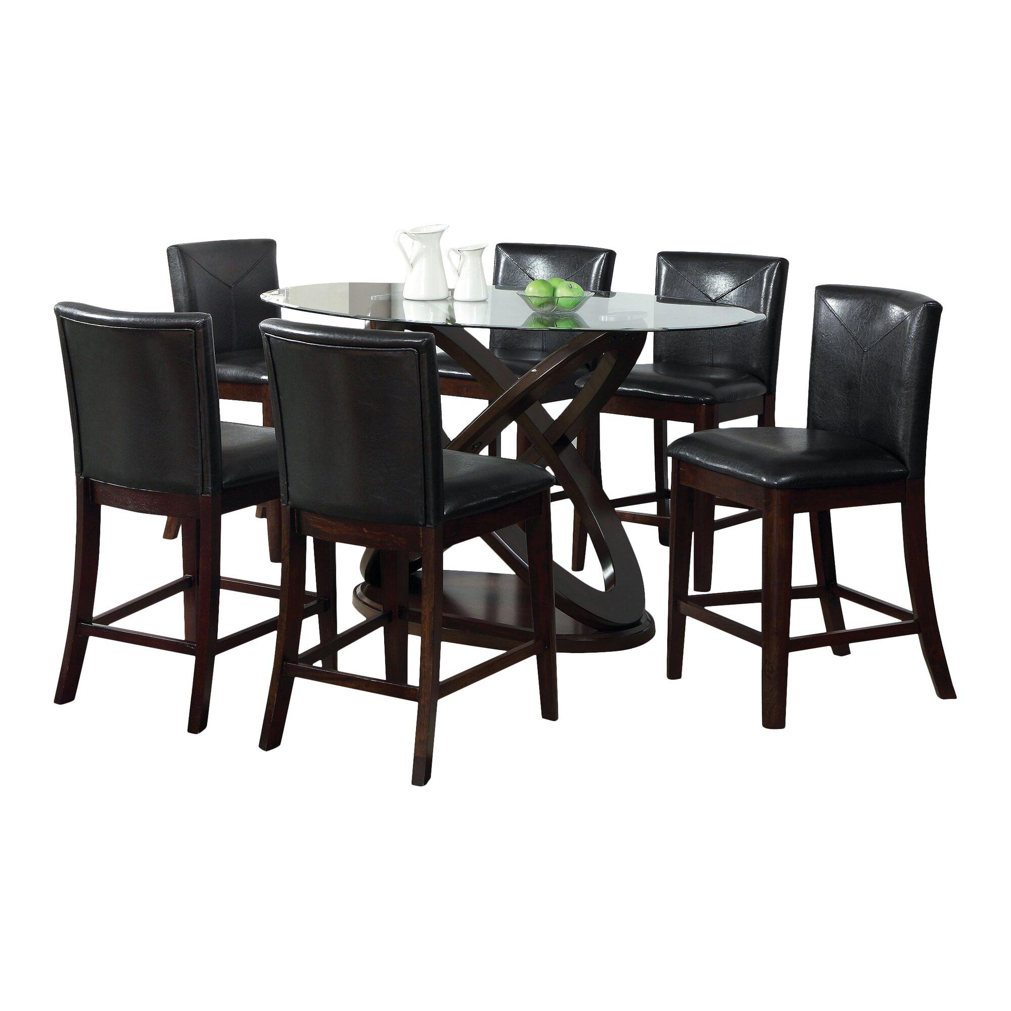 Hokku Designs Ollivander 7 Piece Counter Height Dining Set ...