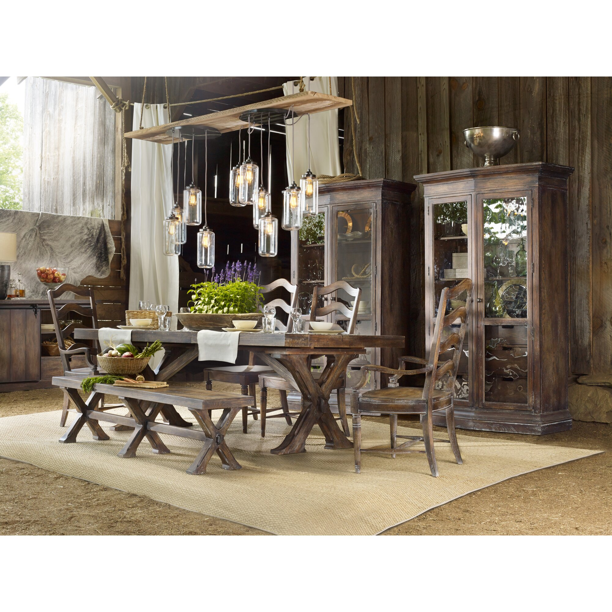 Hooker Furniture Willow Bend Extendable Dining Table & Reviews ...