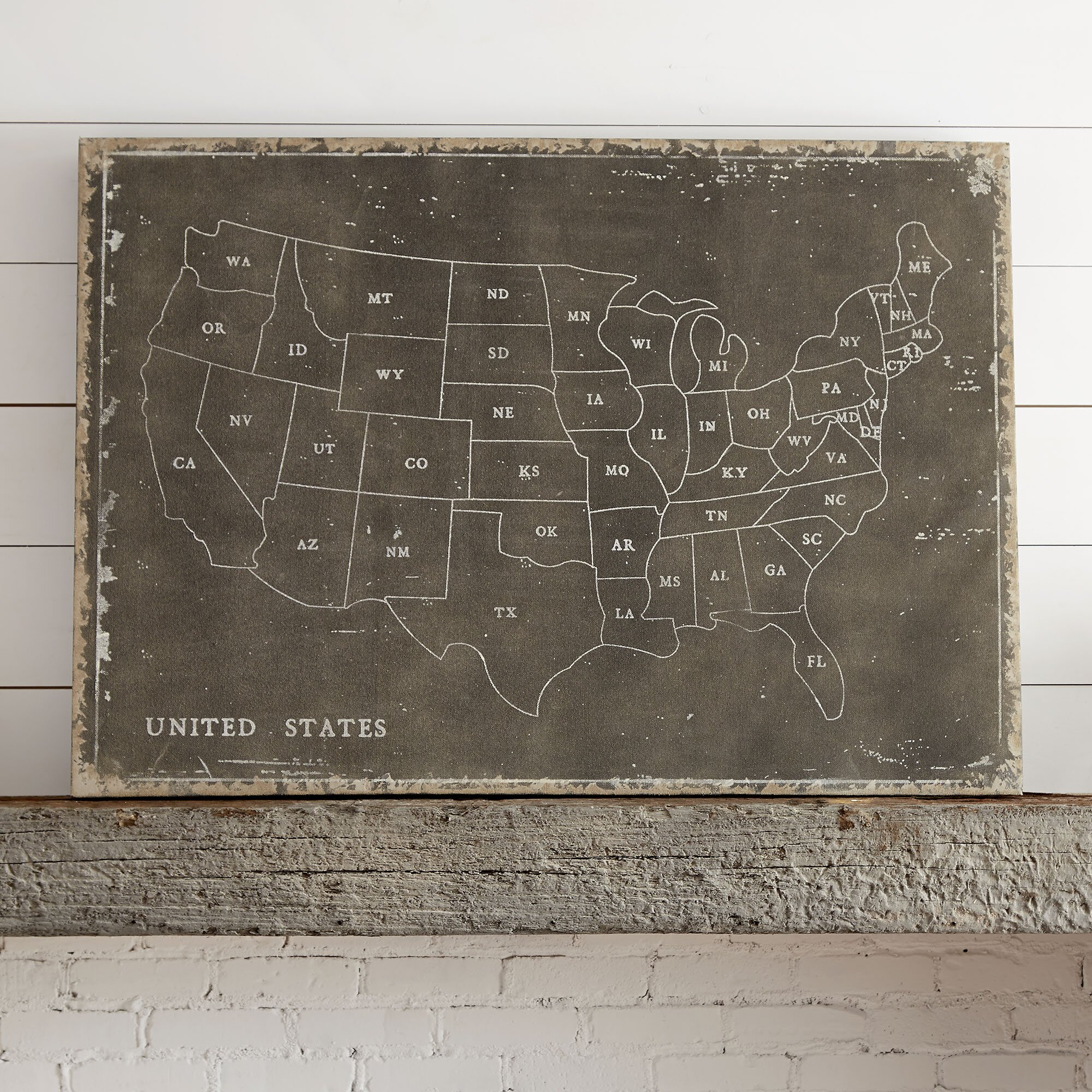 United Plates Of America US And Individual State Maps Crafted In - Florida map jigsaw puzzle