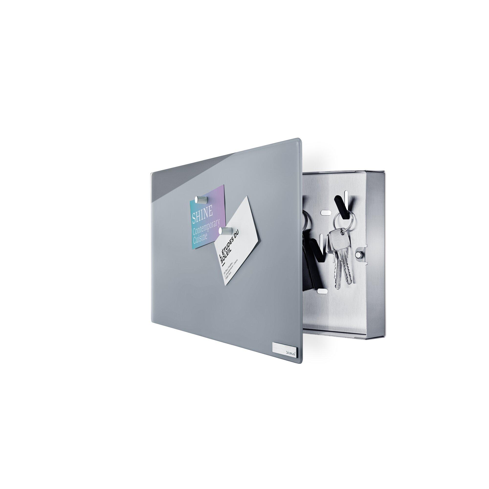 velio glass magnet memo board with hook organizer allmodern. Black Bedroom Furniture Sets. Home Design Ideas