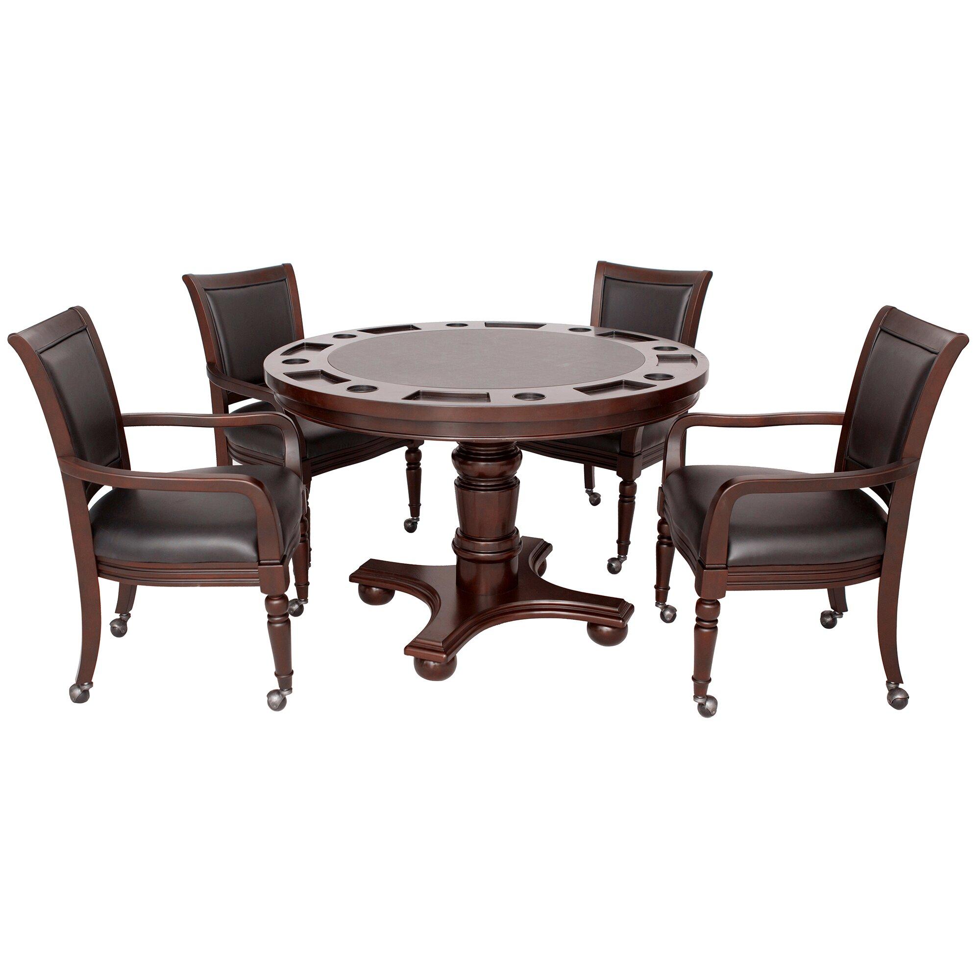 Hathaway Games Bridgeport 2-in-1 Poker Game Table Set & Reviews ...