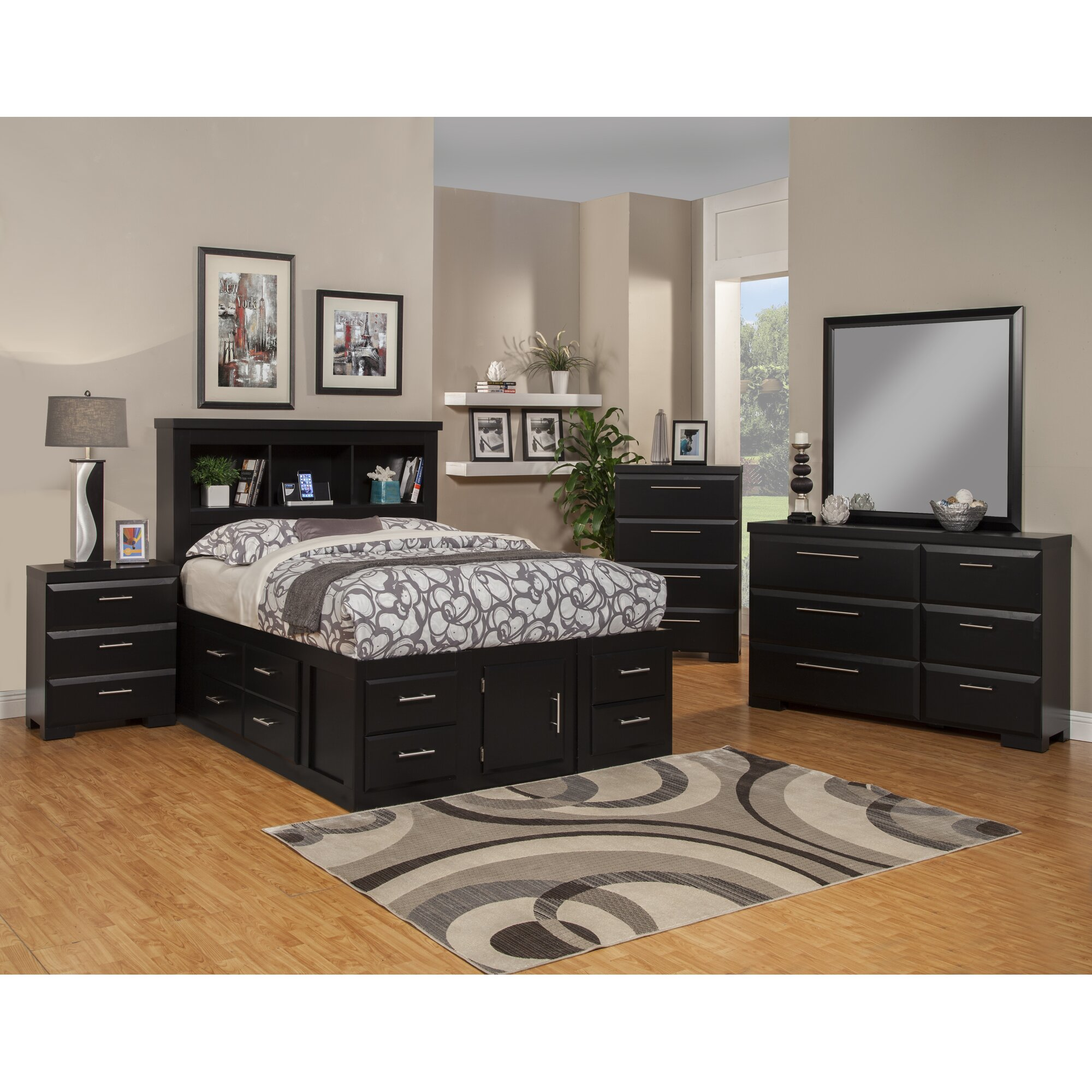 Sandberg Furniture Serenity Platform Customizable Bedroom Set