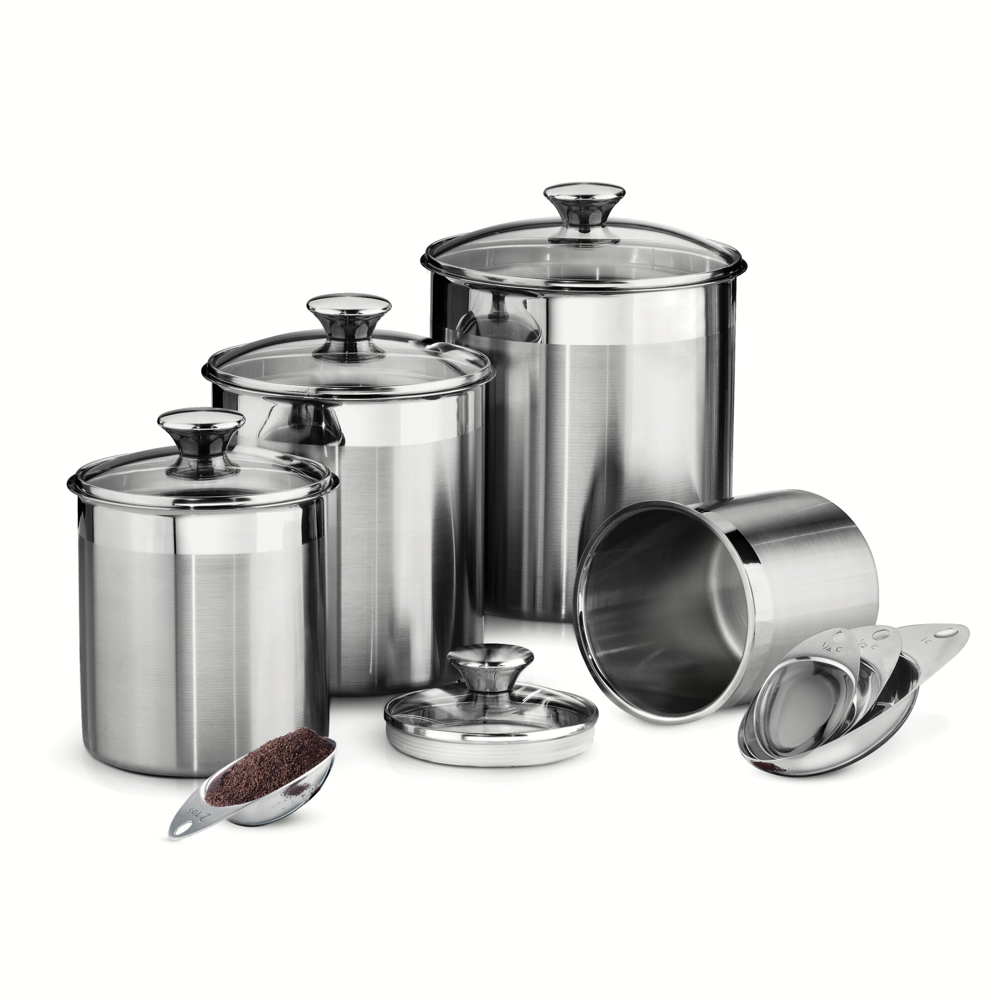 Gourmet 4 Piece Kitchen Canister Set
