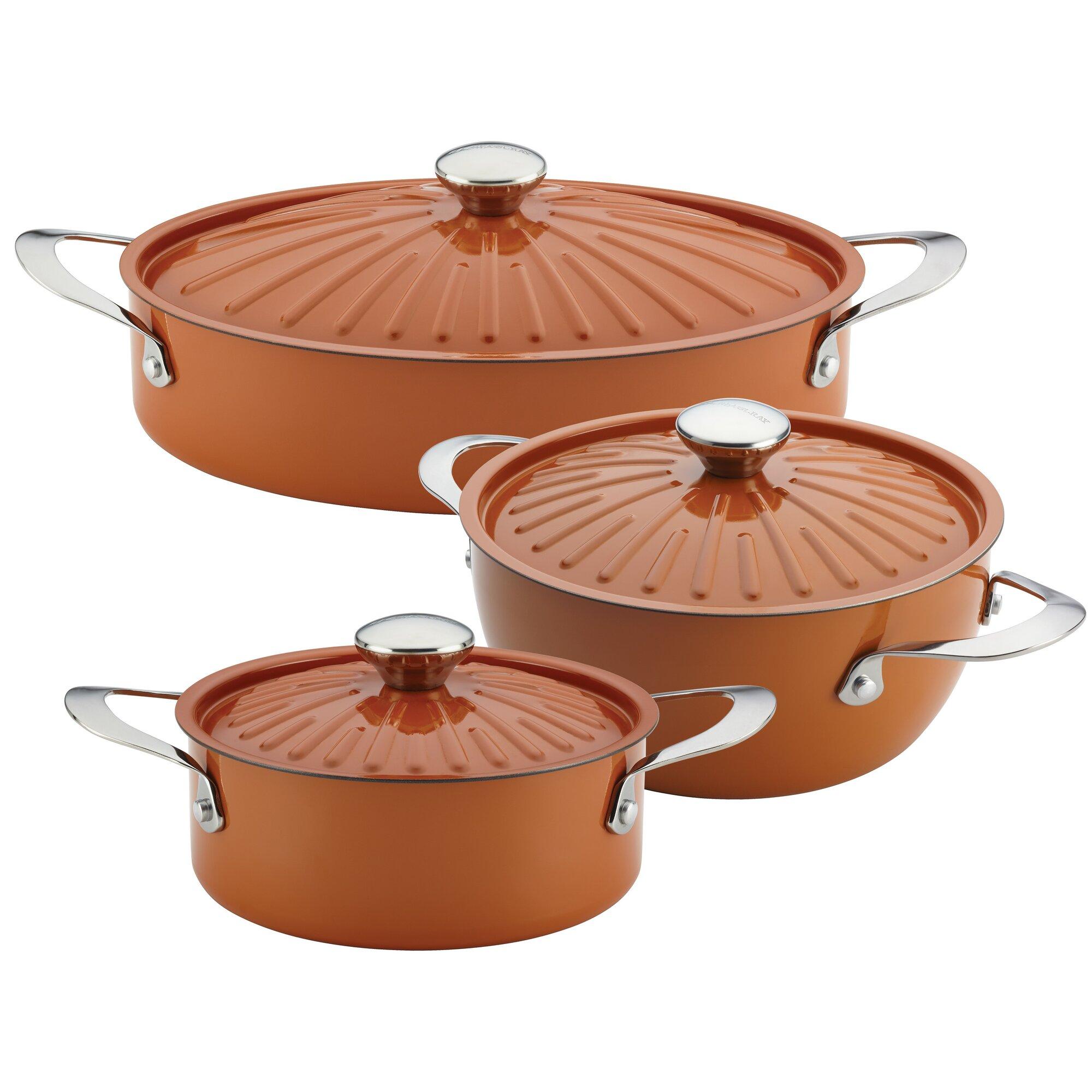 Rachael Ray Cucina 6 Piece Non-Stick Cookware Set & Reviews | Wayfair