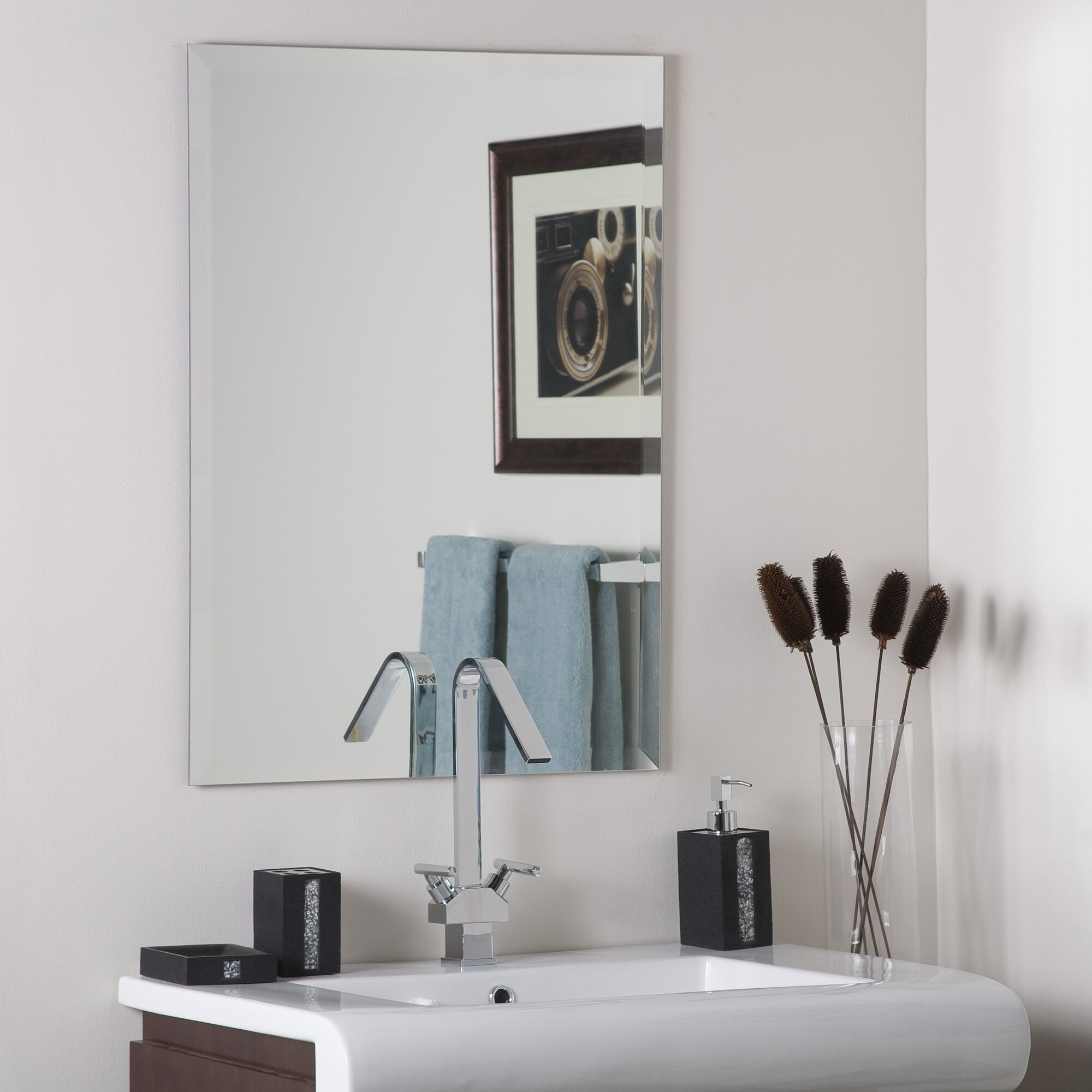 Wade Logan Frameless Stainless Steel Wall Mirror & Reviews | Wayfair