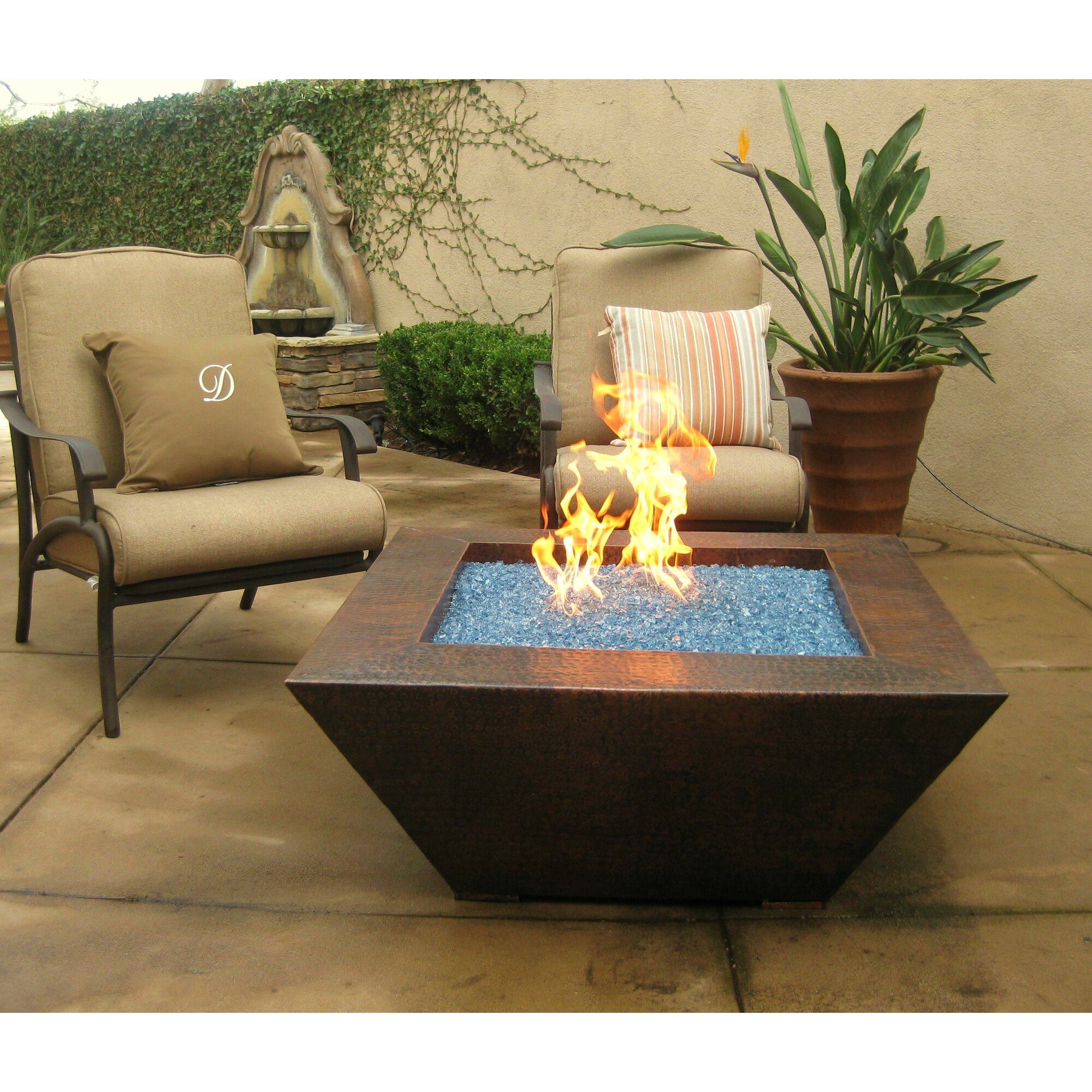 Superior Grand Effects Corinthian Gas Fire Pit Table Wayfair .