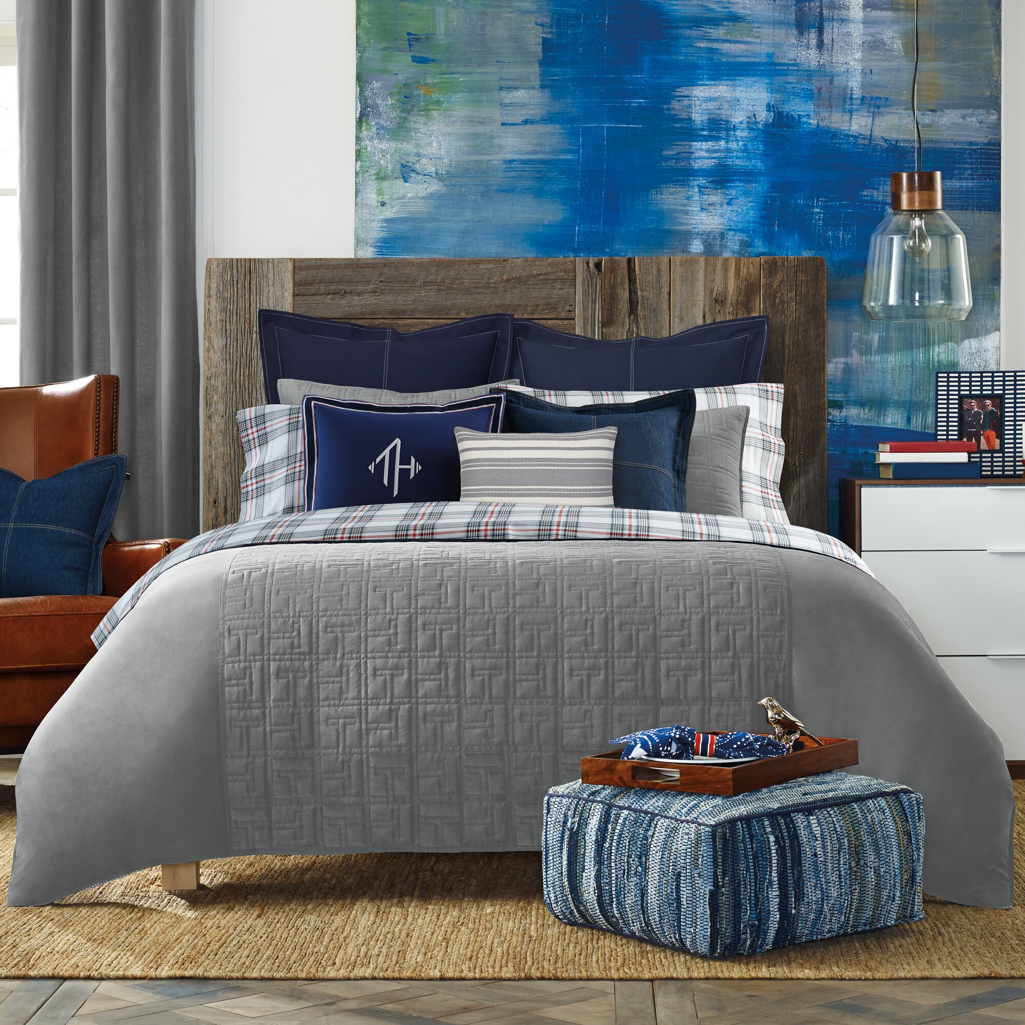 Tommy hilfiger th academy comforter collection reviews for Tommy hilfiger bedroom furniture