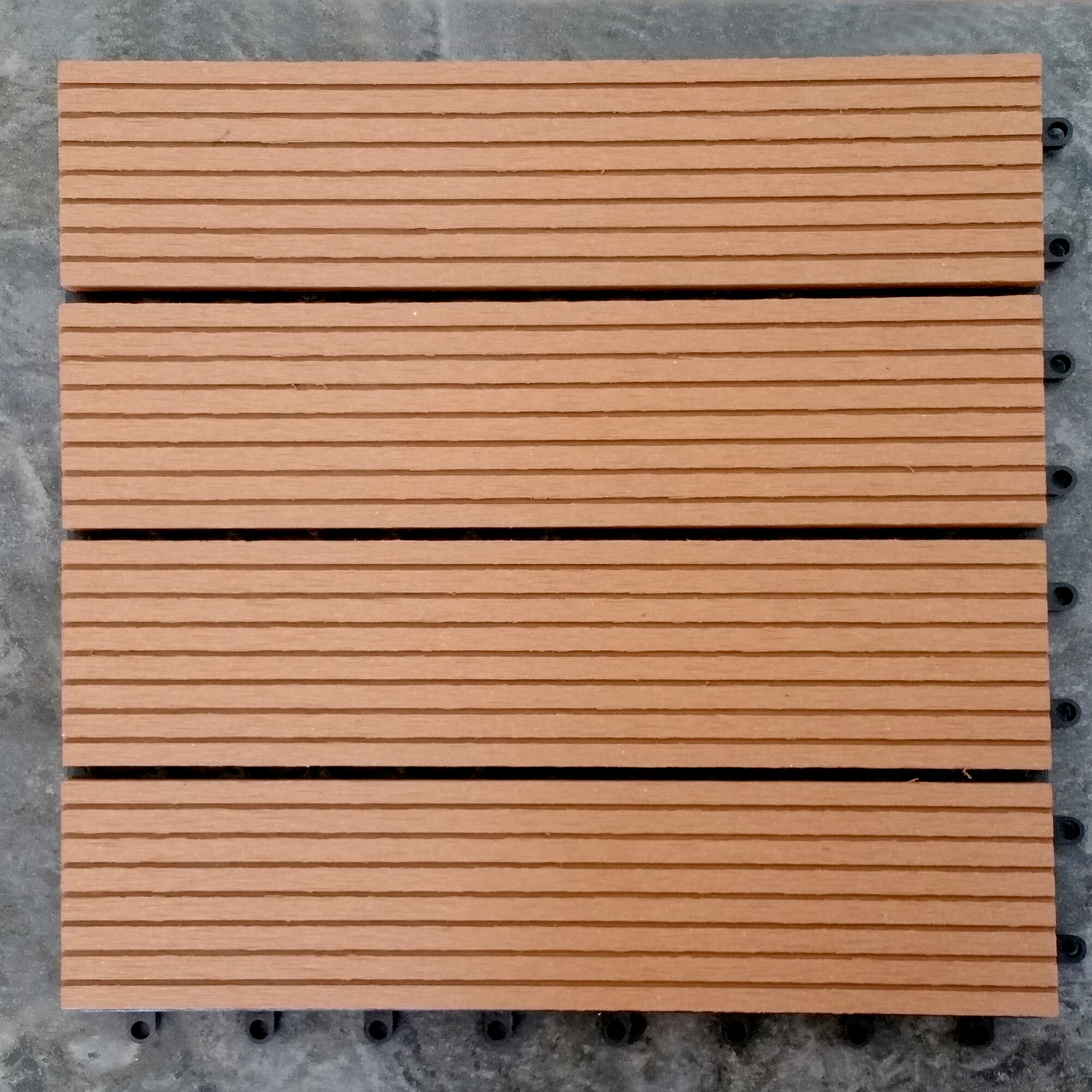 Vifah composite teak quot interlocking deck tiles