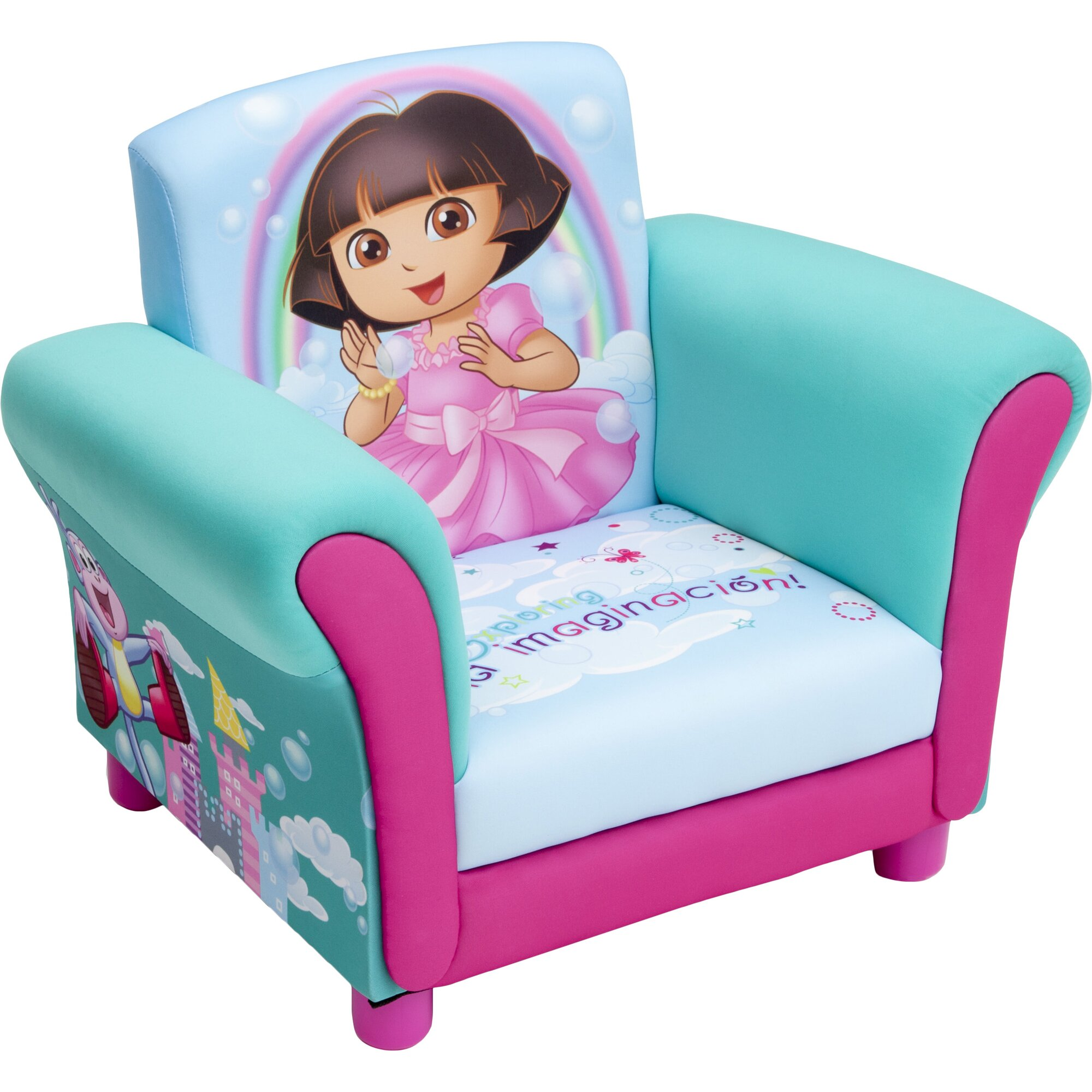 Toddler Upholstered Rocking Chair Simple Chairs Rattan Kids