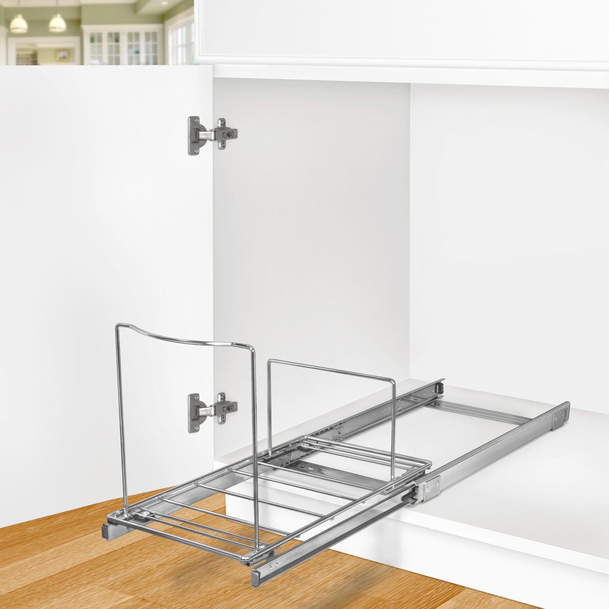 New Cabinet Organizer Sliding Kitchen Under Storage Drawer: Lynk Roll Out Bin Holder
