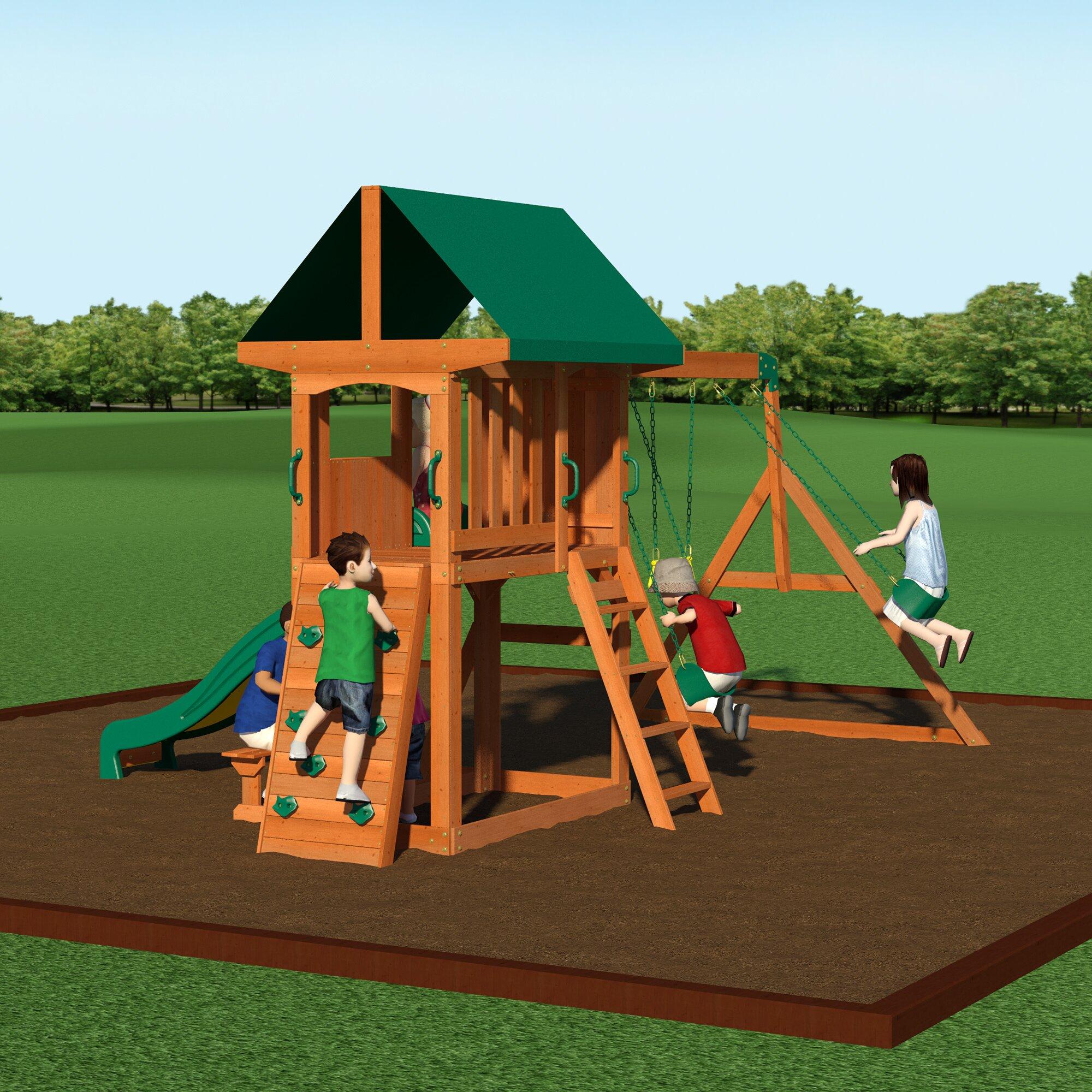 Playset Ideas Backyard saveemail Somerset Swing Set