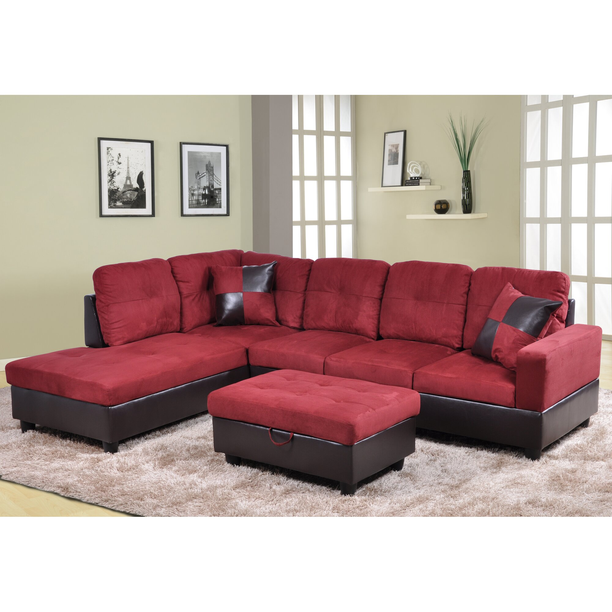 Couch With Chaise Storage Living Room Ottoman With Storage Wooden - Couches with storage