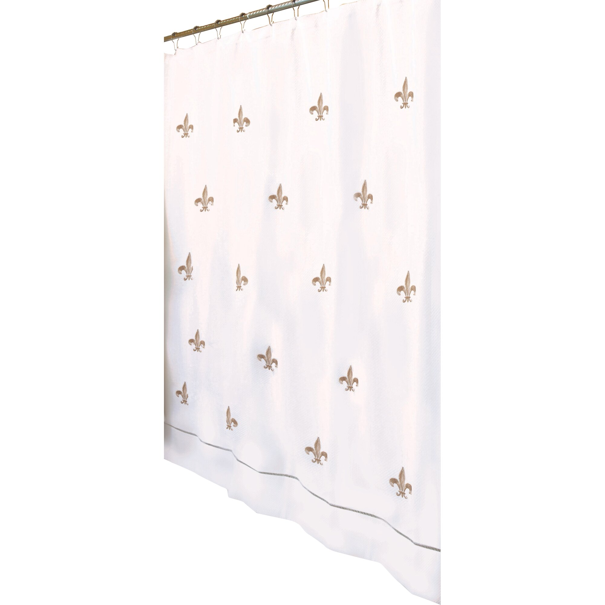 Jacaranda living fleur de lis embroidered shower curtain - Fleur de lis shower curtains ...