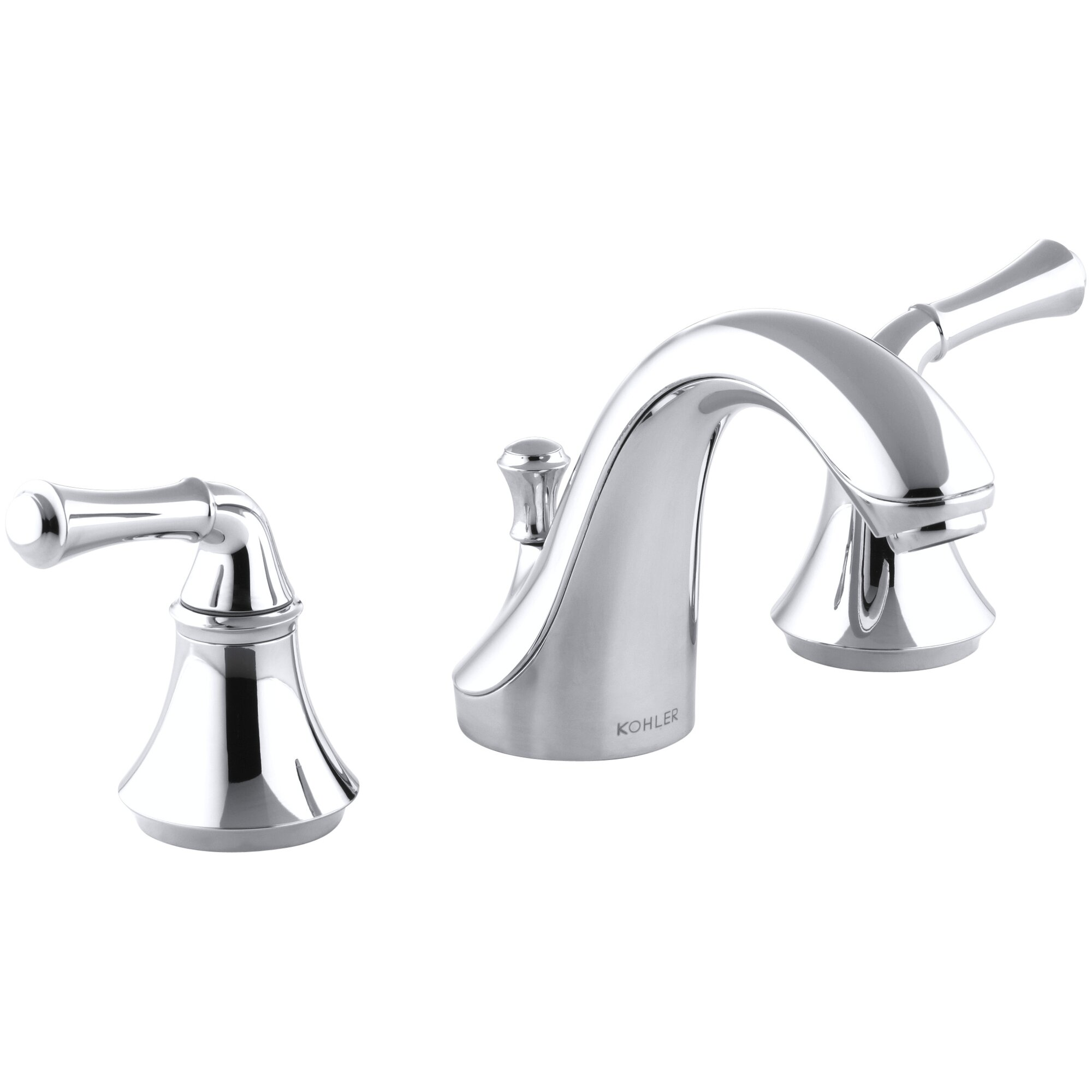 Fort Widespread Bathroom Sink Faucet With Traditional Lever Handles