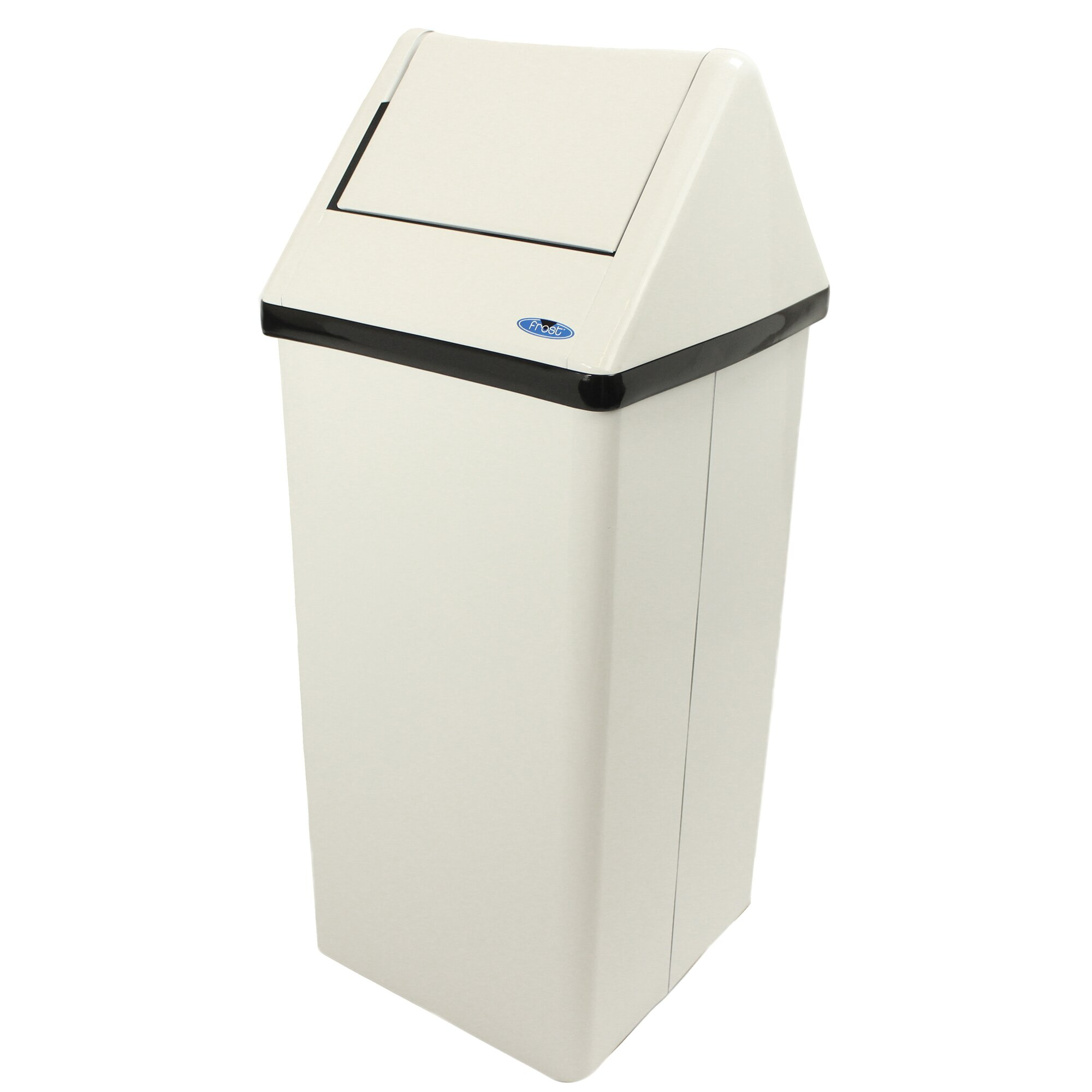 frost free standing waste receptacle swing top trash can reviews. Black Bedroom Furniture Sets. Home Design Ideas