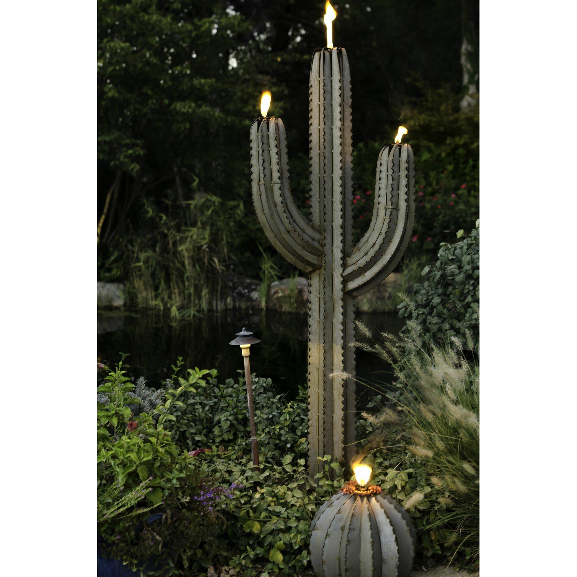 Desert Steel Saguaro Cactus Garden Torch Amp Reviews