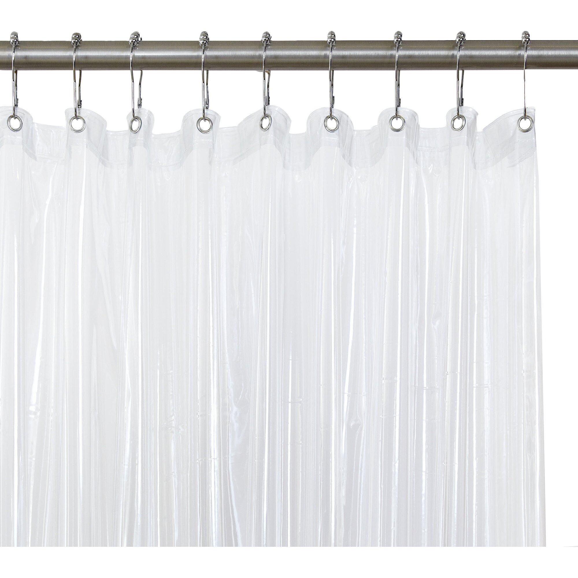 Clear Magnetic Shower Curtain Liner Reviews Birch Lane