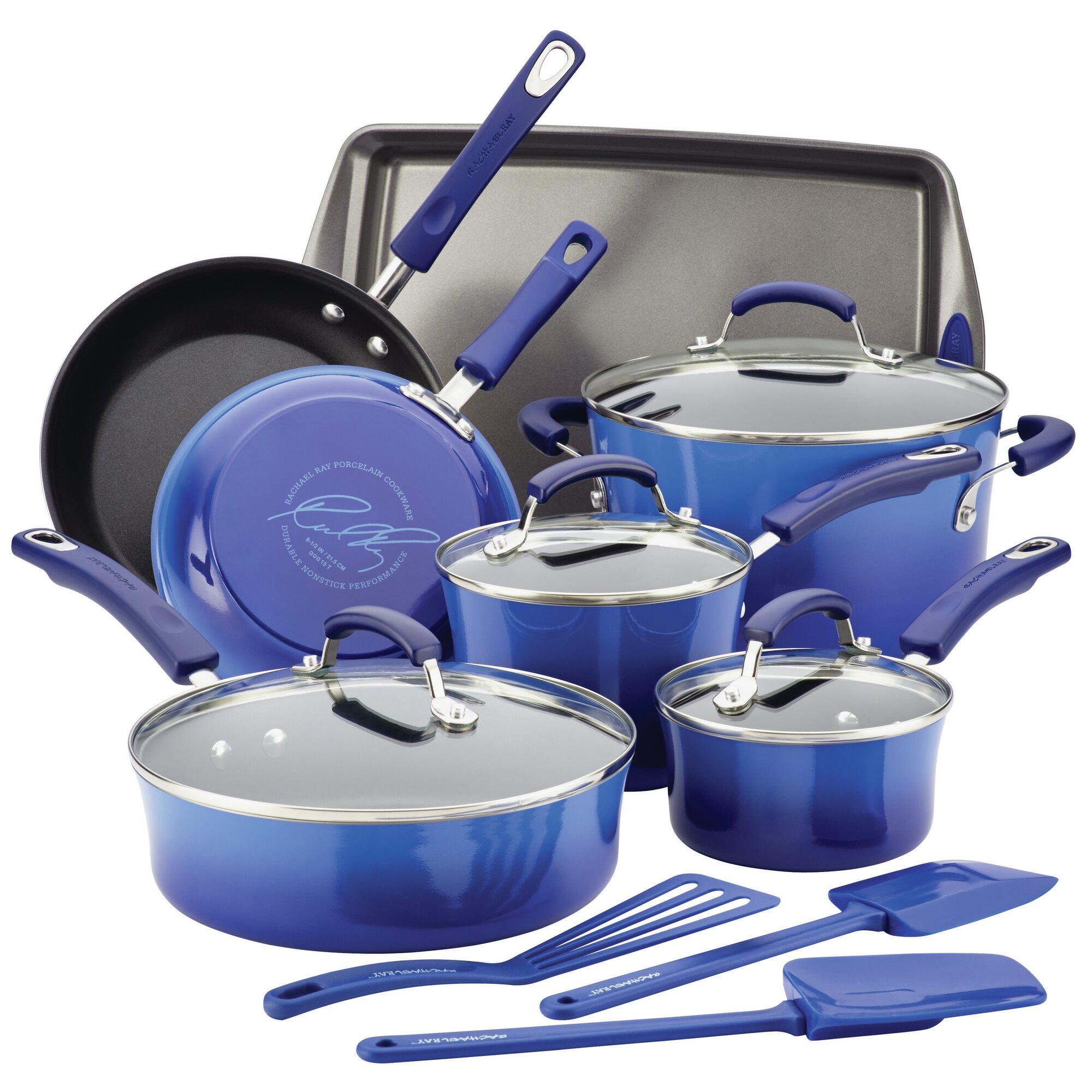 Rachael Ray 14 Piece Non-Stick Cookware Set & Reviews | Wayfair