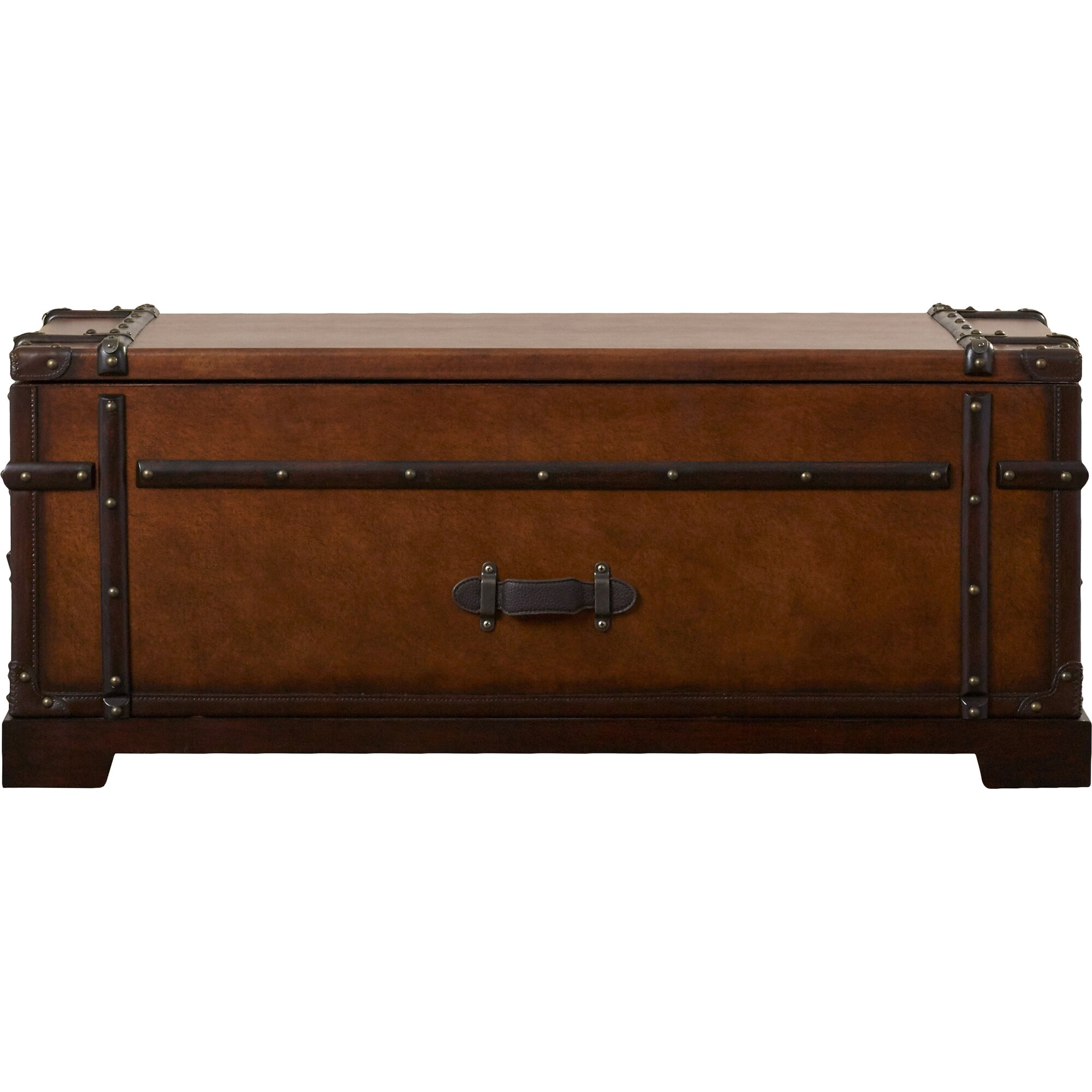Darby Home Co Lofton Steamer Coffee Table Trunk With Lift Top Reviews