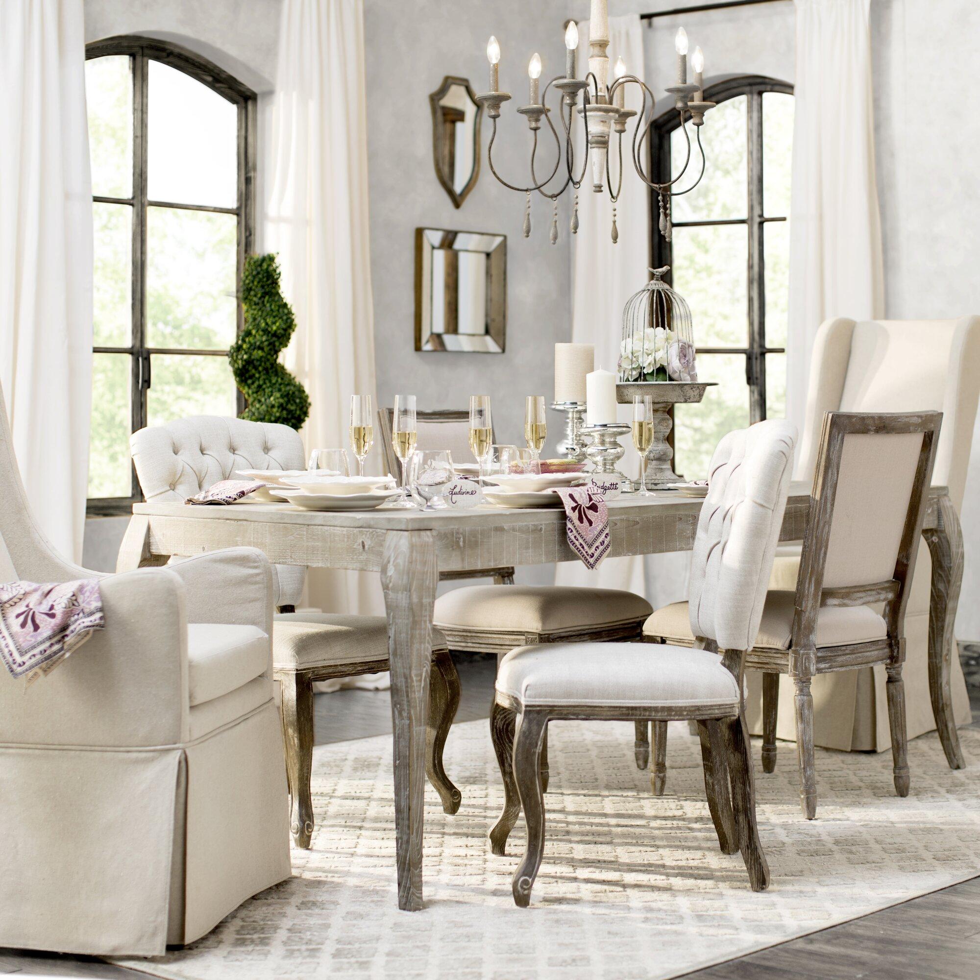 Valerie Reclaimed Pine Wood Dining Table & Reviews | Joss & Main