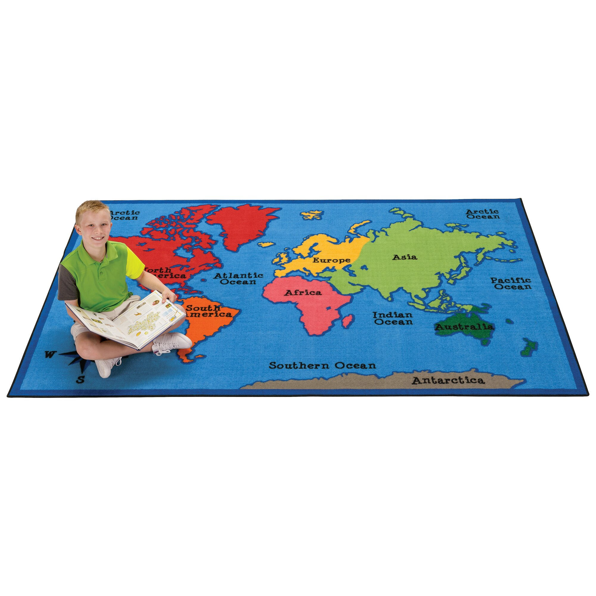 Carpets For Kids Value Plus World Map Area Rug Amp Reviews
