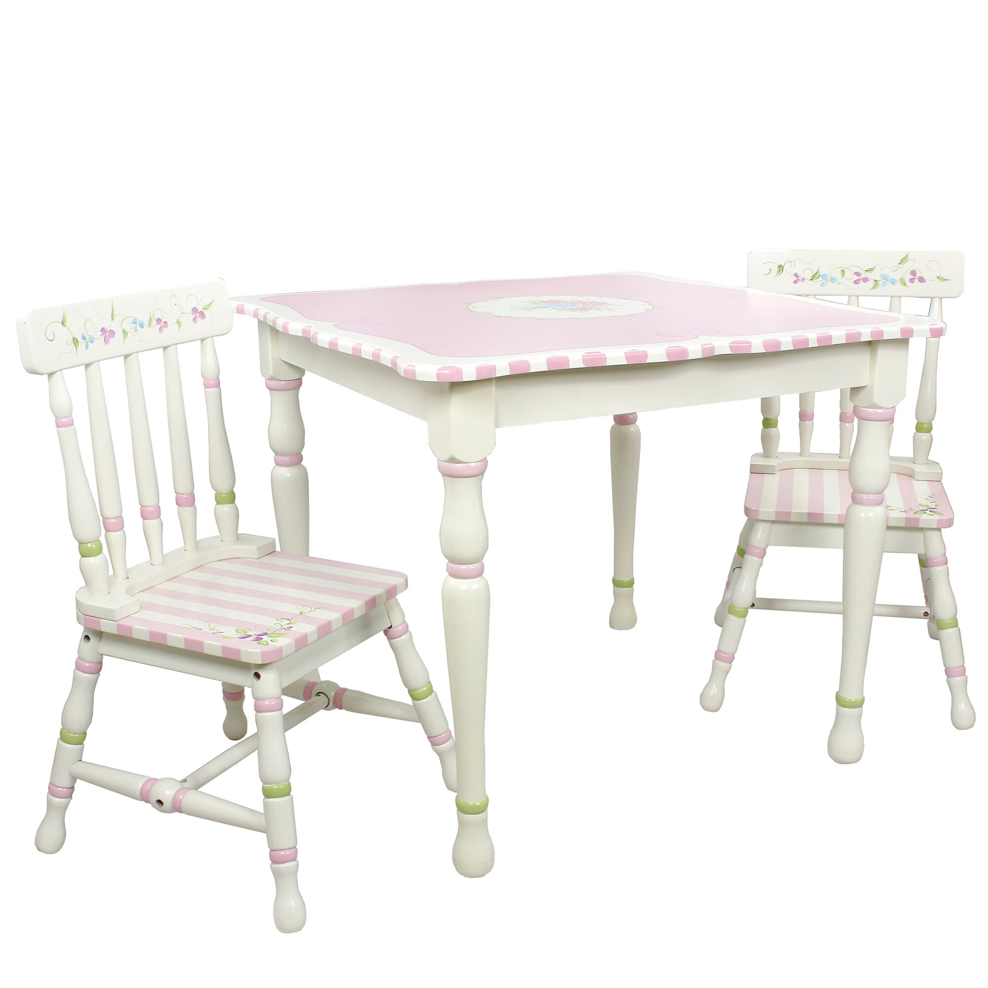 Fantasy fields bouquet 3 piece table chair set reviews for Regulation 85 table a