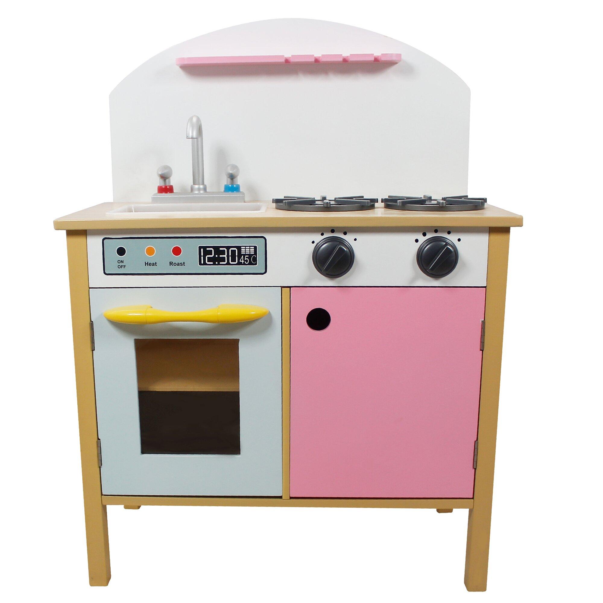 Uncategorized Pretend Play Kitchen Appliances teamson kids pretend play pink kitchen reviews wayfair kitchen
