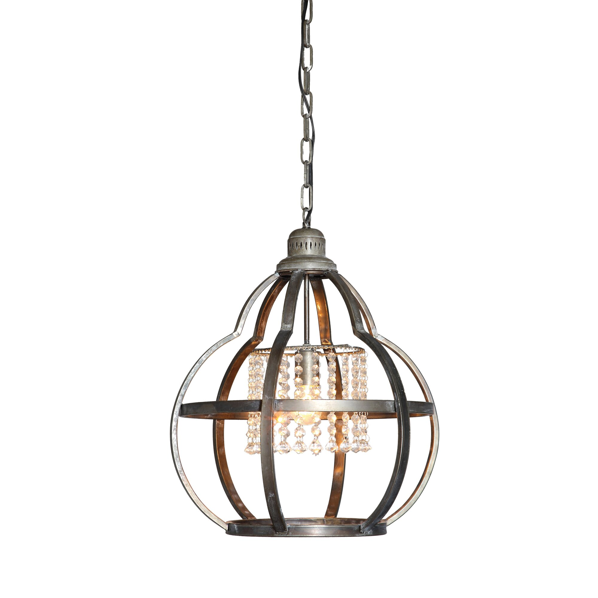 Creative co op lighting - Creative Co Op Turn Of The Century 1 Light Schoolhouse Pendant Reviews Wayfair