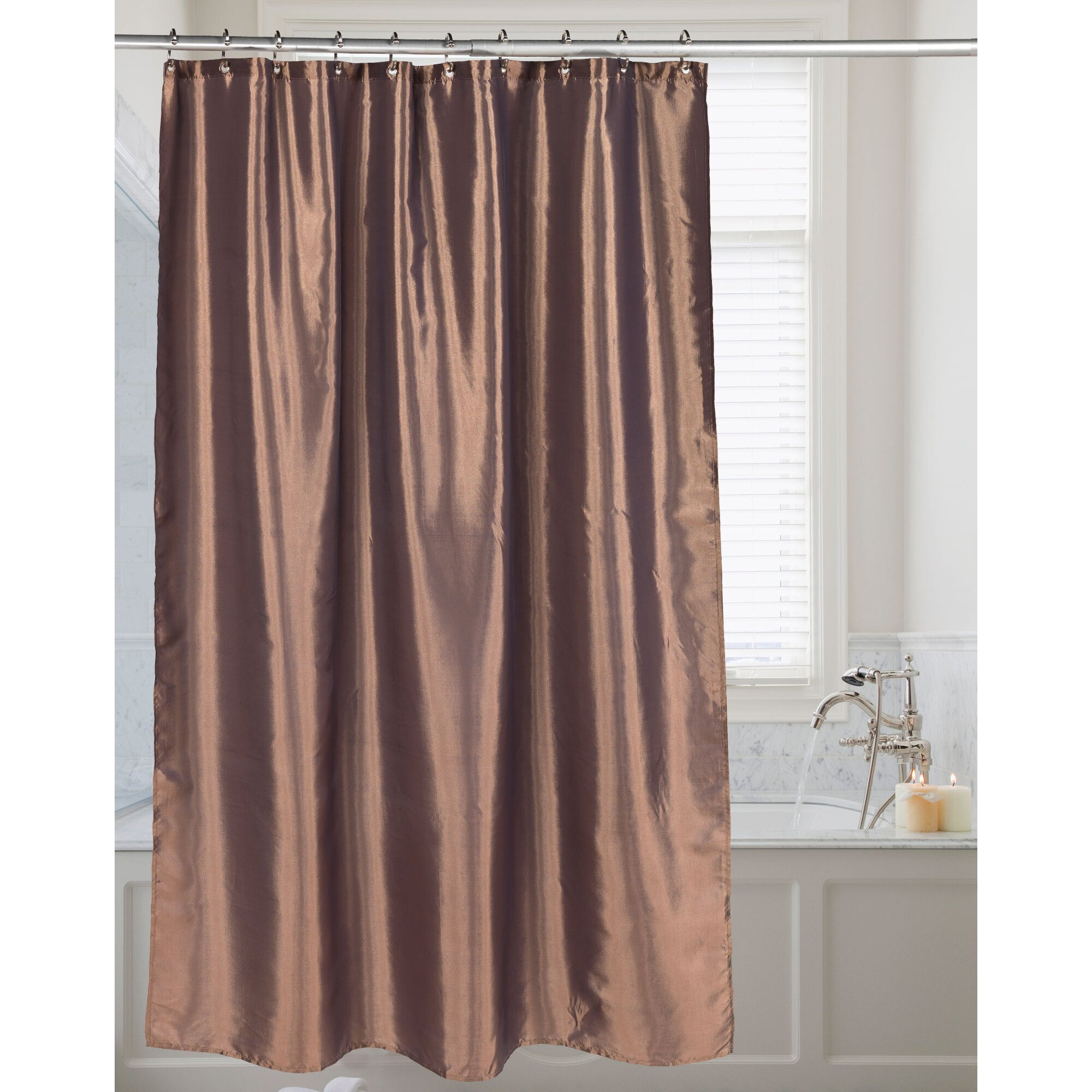 Solid Shower Curtains Youll Love Wayfair - Burgundy shower curtain sets