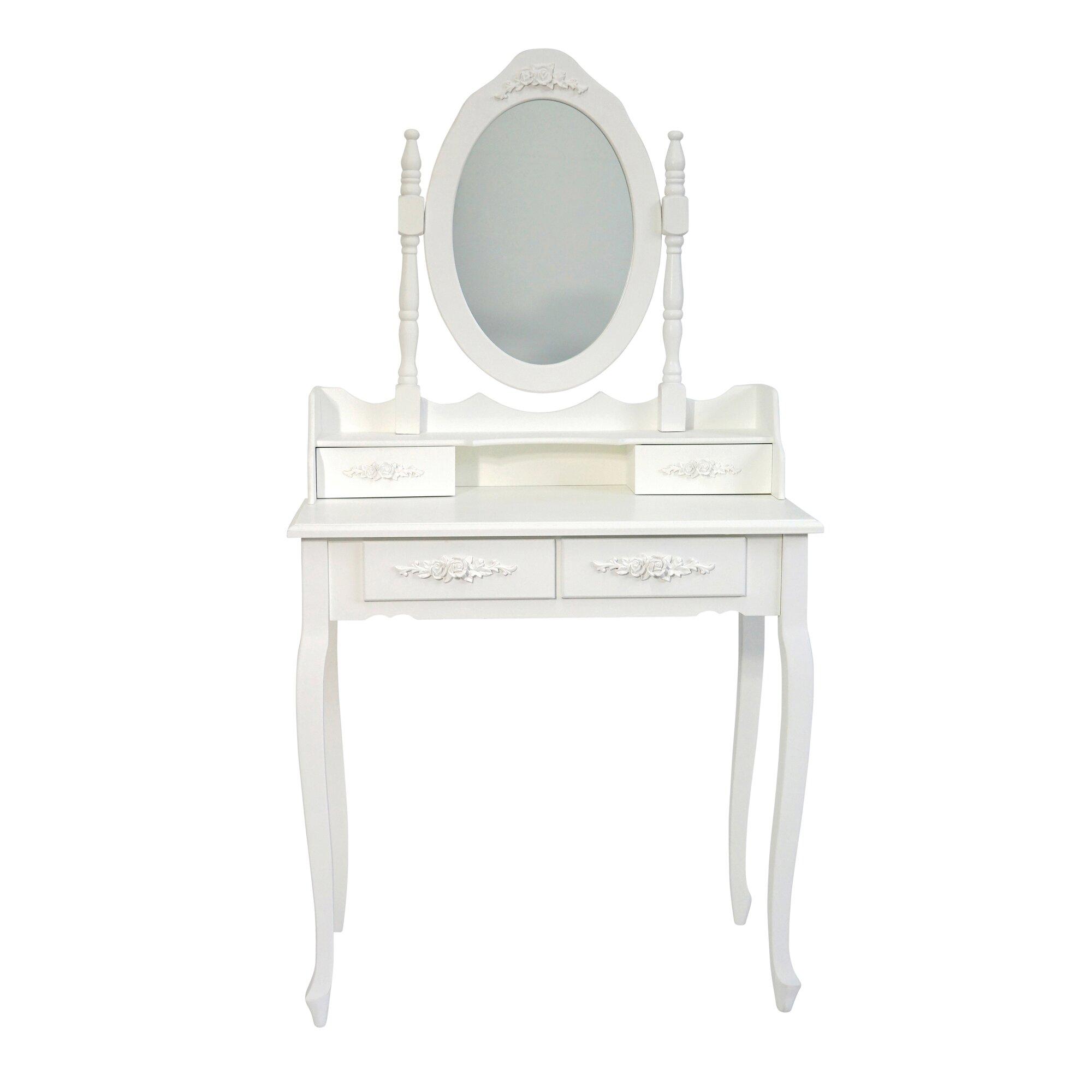 maison alouette schminktisch juneau mit spiegel bewertungen. Black Bedroom Furniture Sets. Home Design Ideas