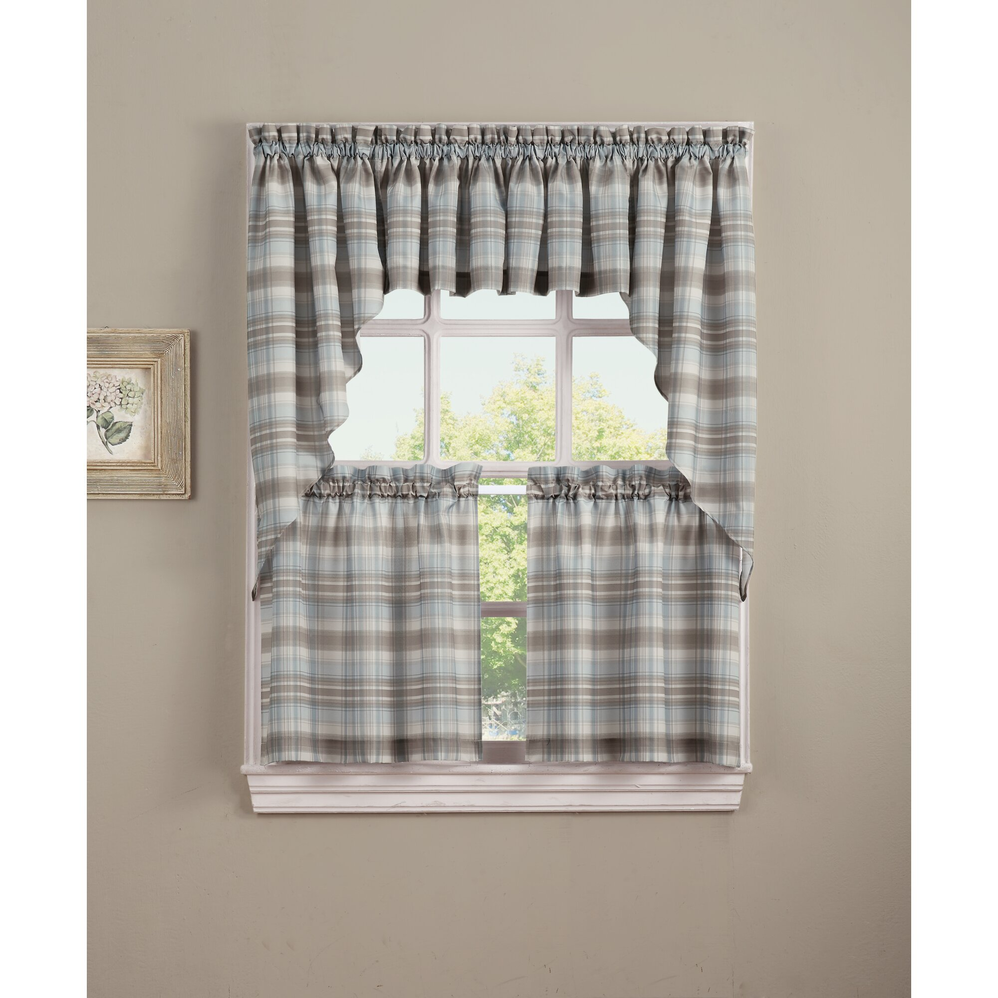 plaid country of kitchen and curtains red inspirational vanity yellow tan valance green valances
