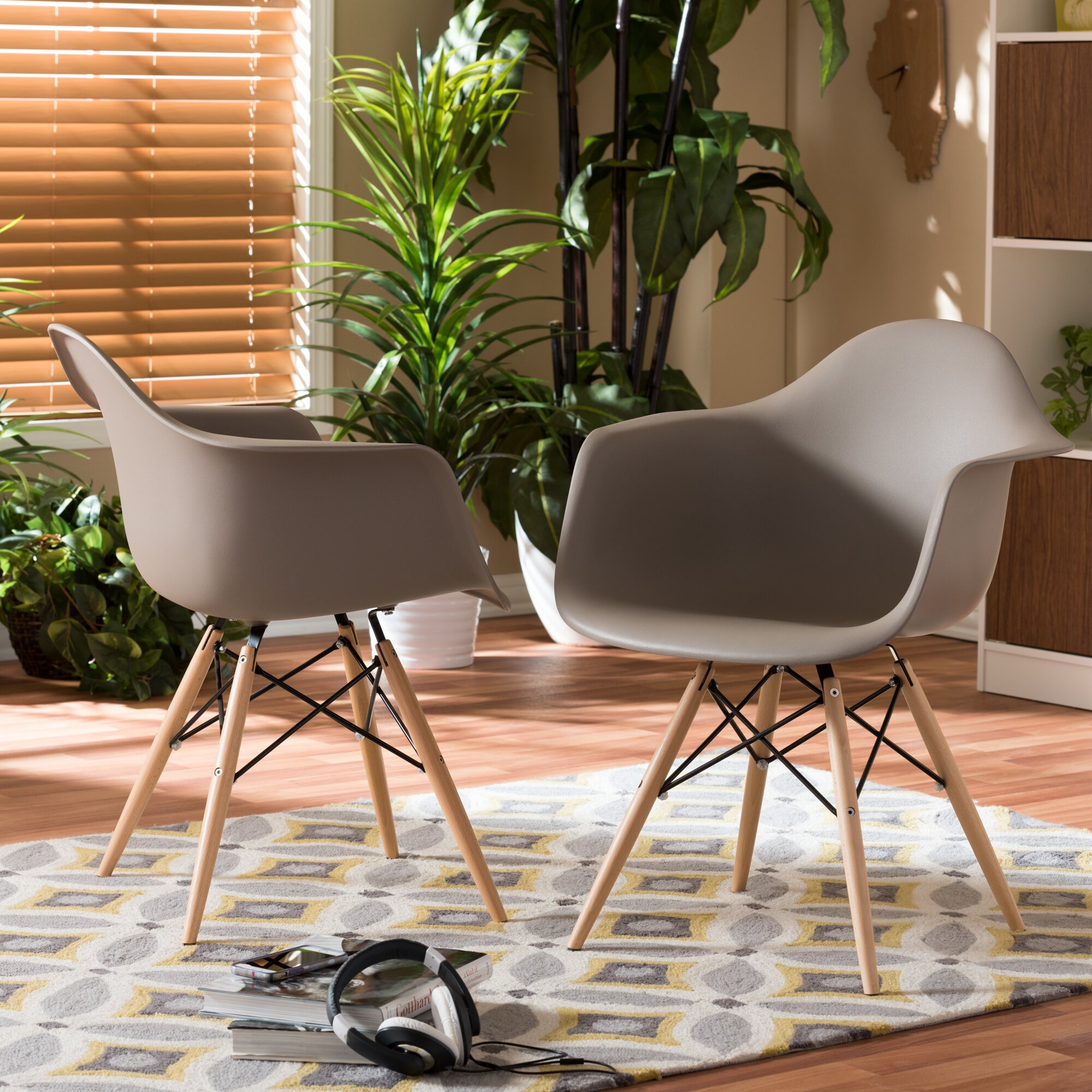 Wholesale Interiors Baxton Studio Pascal Shell Solid Wood Dining ...