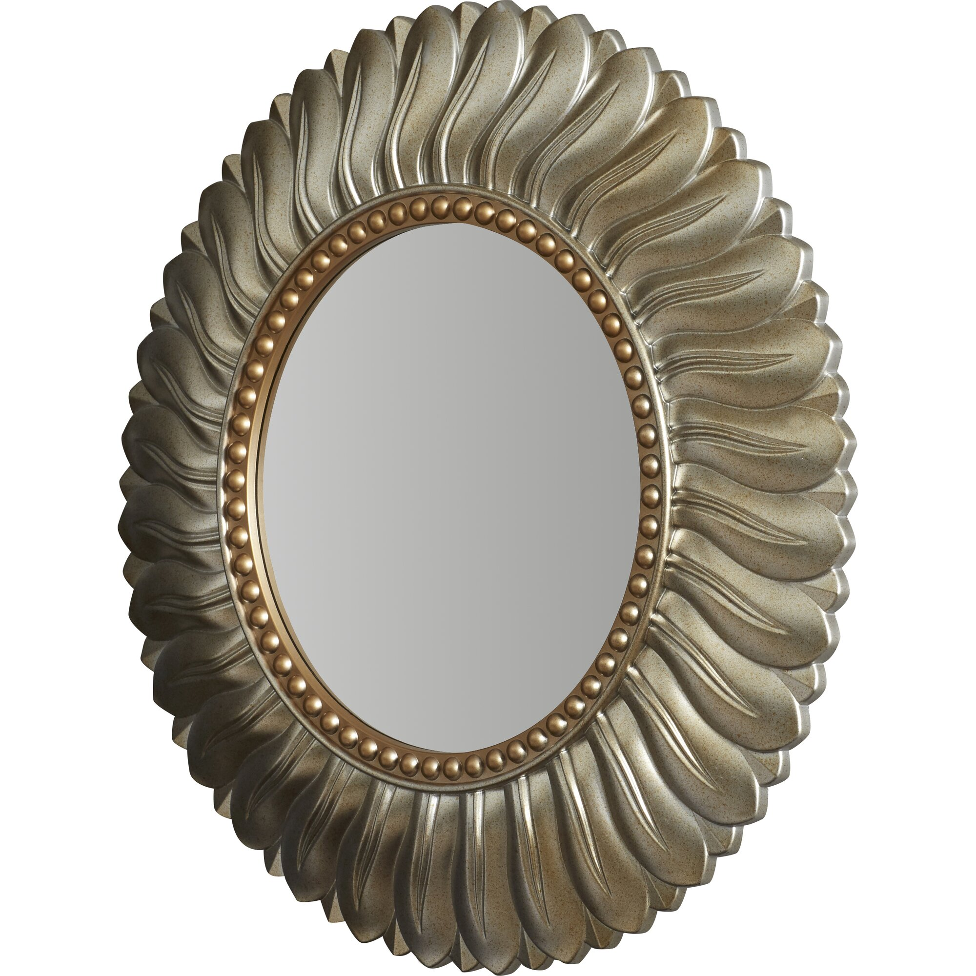 Willa Arlo Interiors Vertical Round Resin Wall Mirror