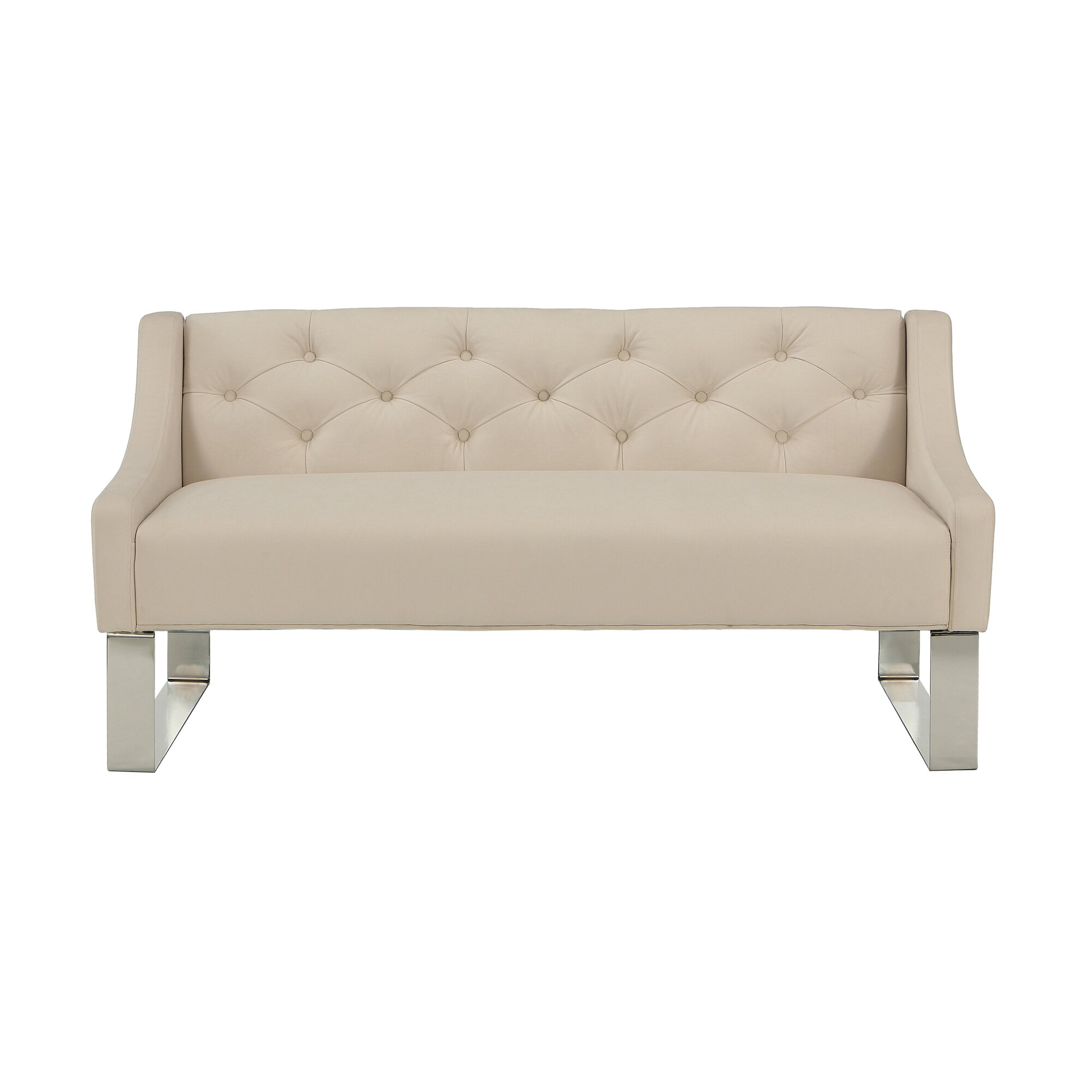 Bedroom bench with arms - Upholstered Bedroom Bench